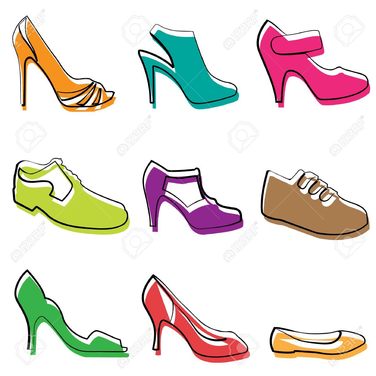 banque dimages dessin de chaussures mode
