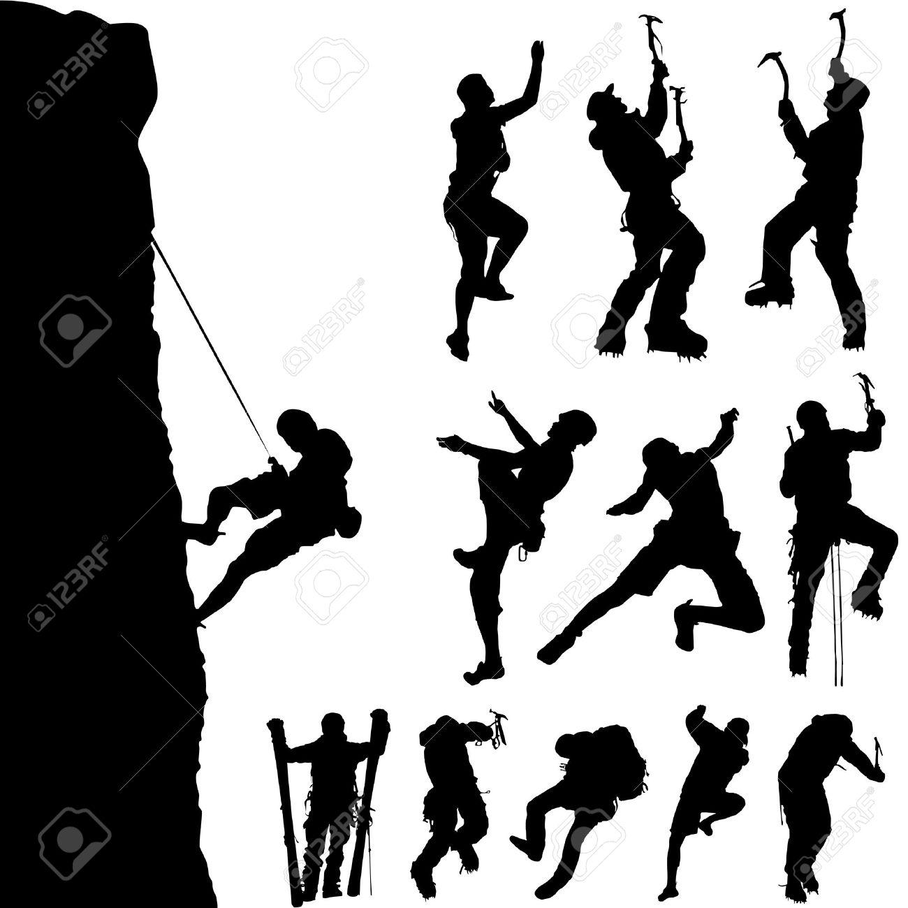mountain climber set Stock Vector - 8437595