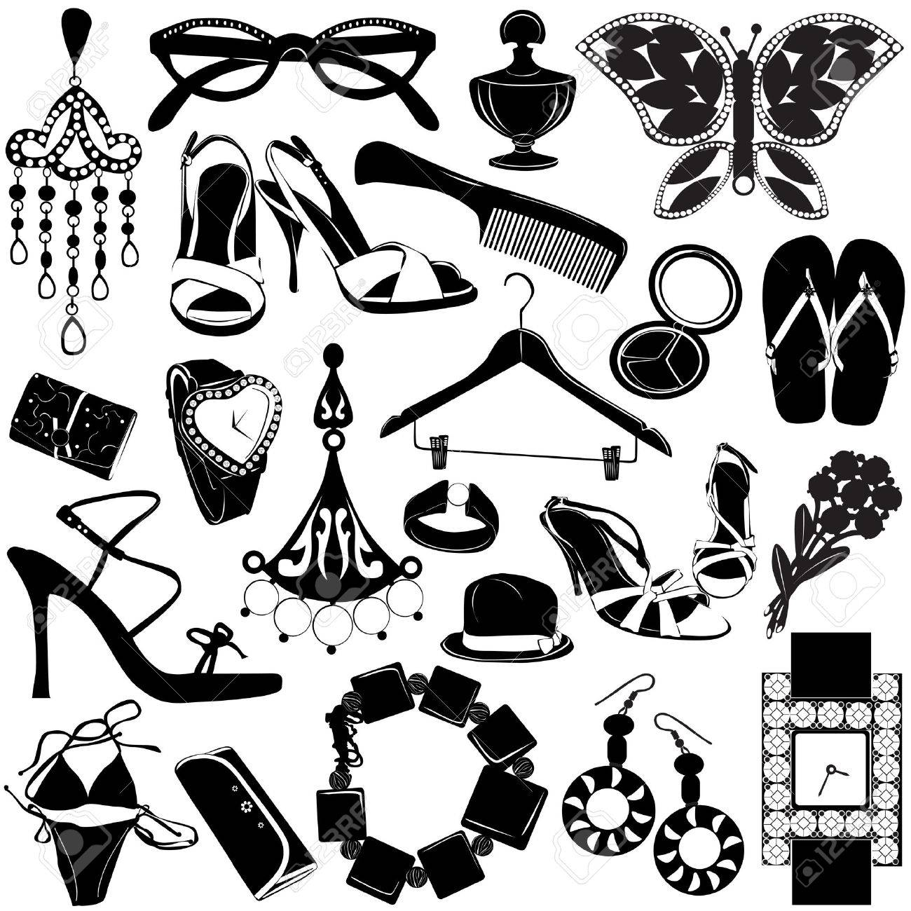 6856ae8118d3 Women Accessories Royalty Free Cliparts, Vectors, And Stock ...