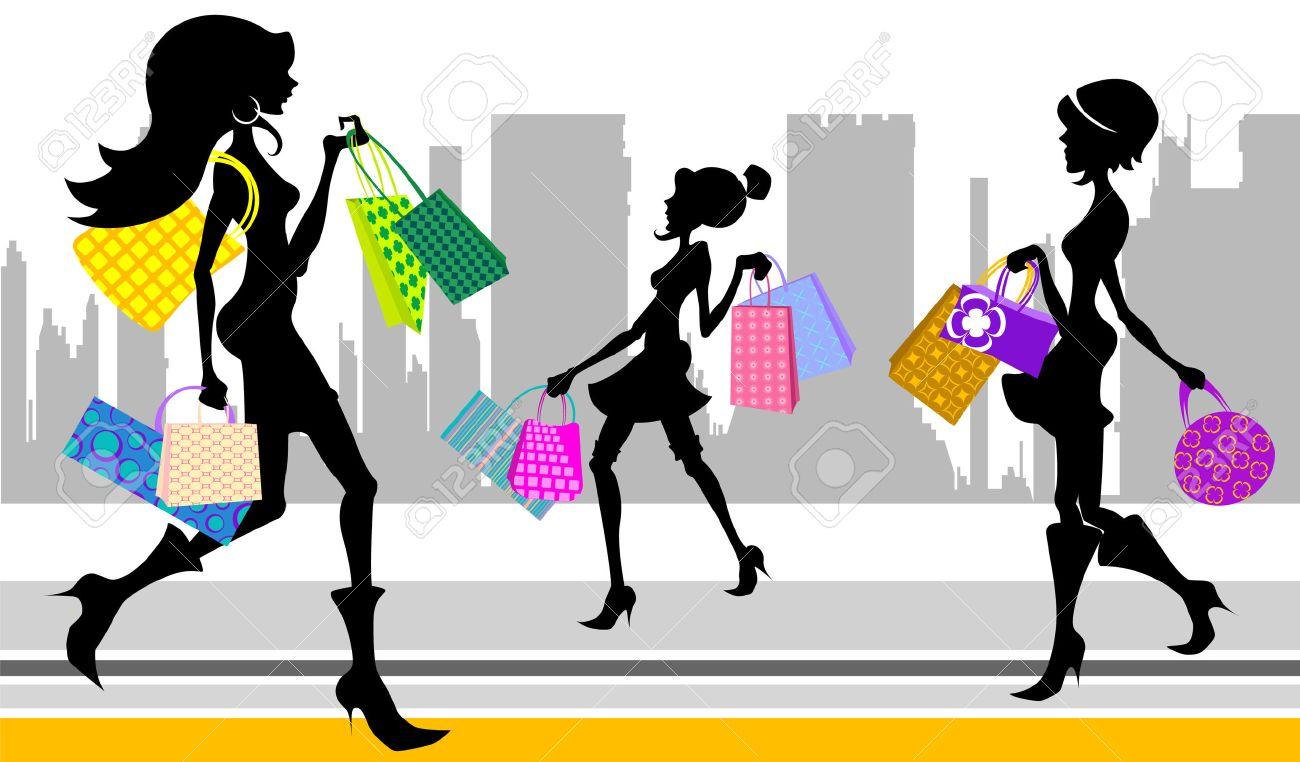 shopping woman Stock Vector - 8516044