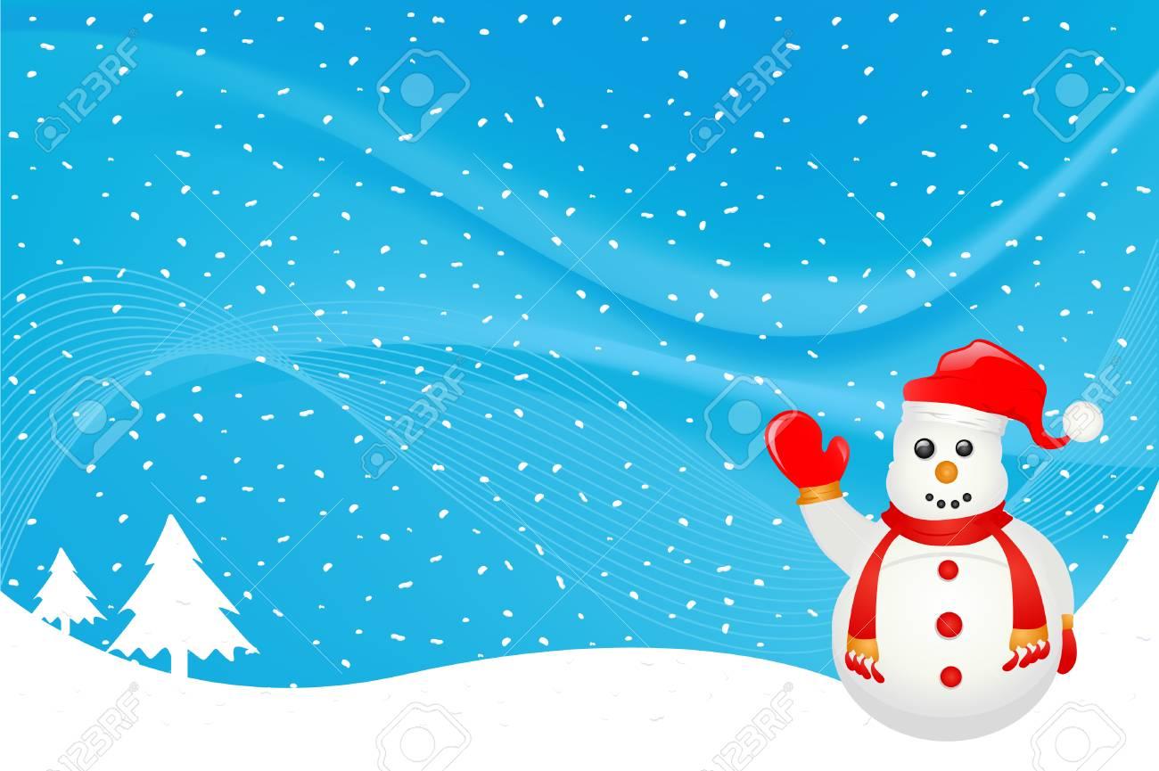 snowman character Stock Vector - 8516077