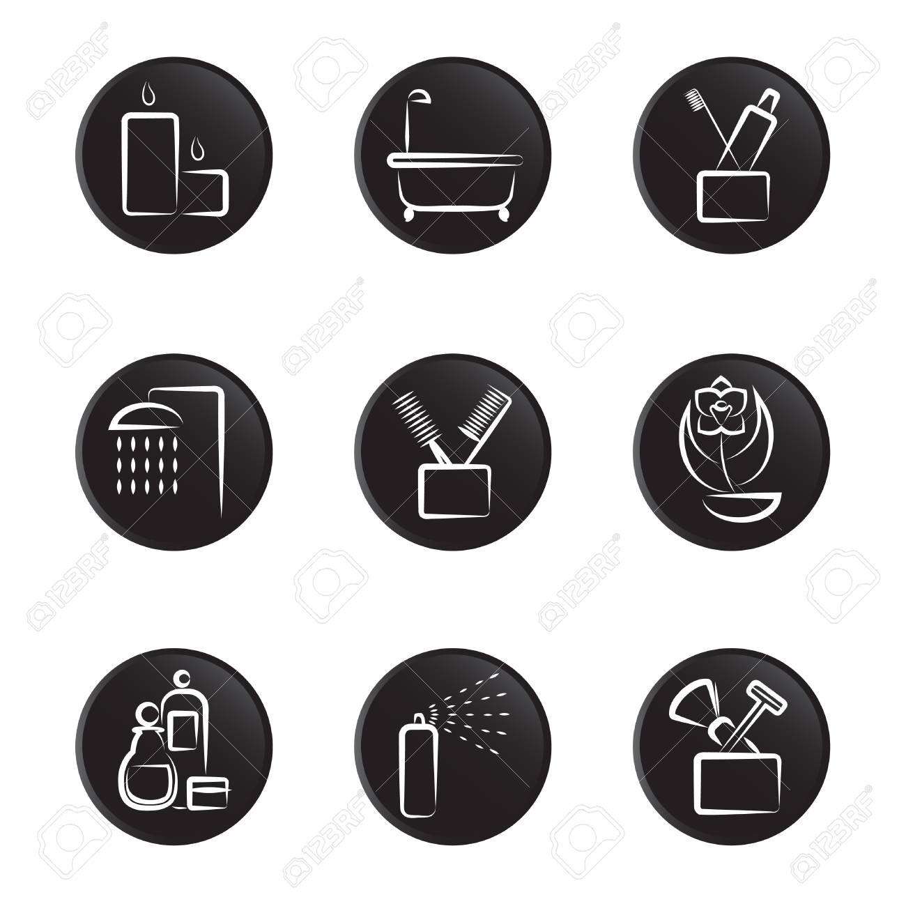 bathroom icons Stock Vector - 8764868