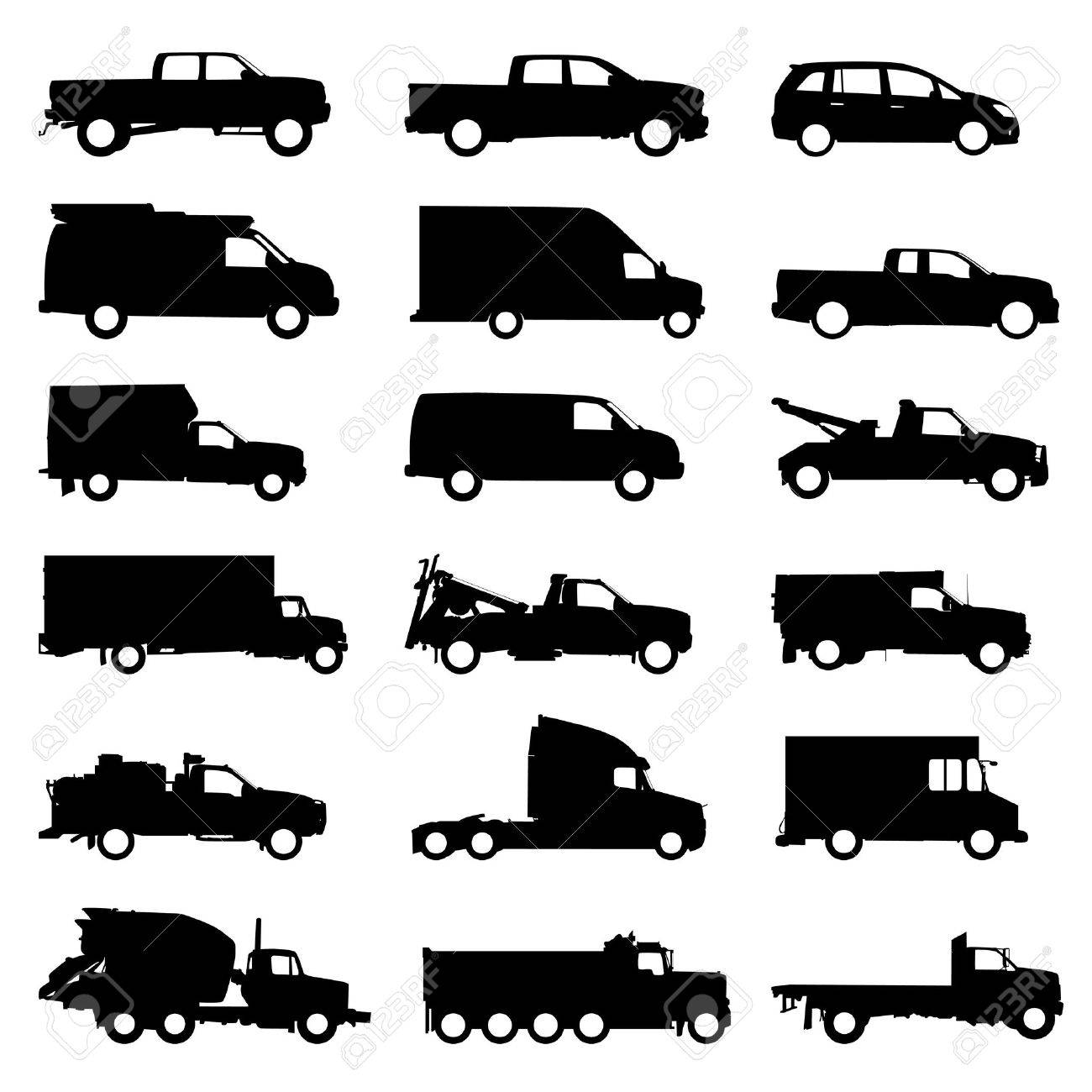Ford Pickup Truck Silhouette Images Free Download 1955 F100 Vector Transportation