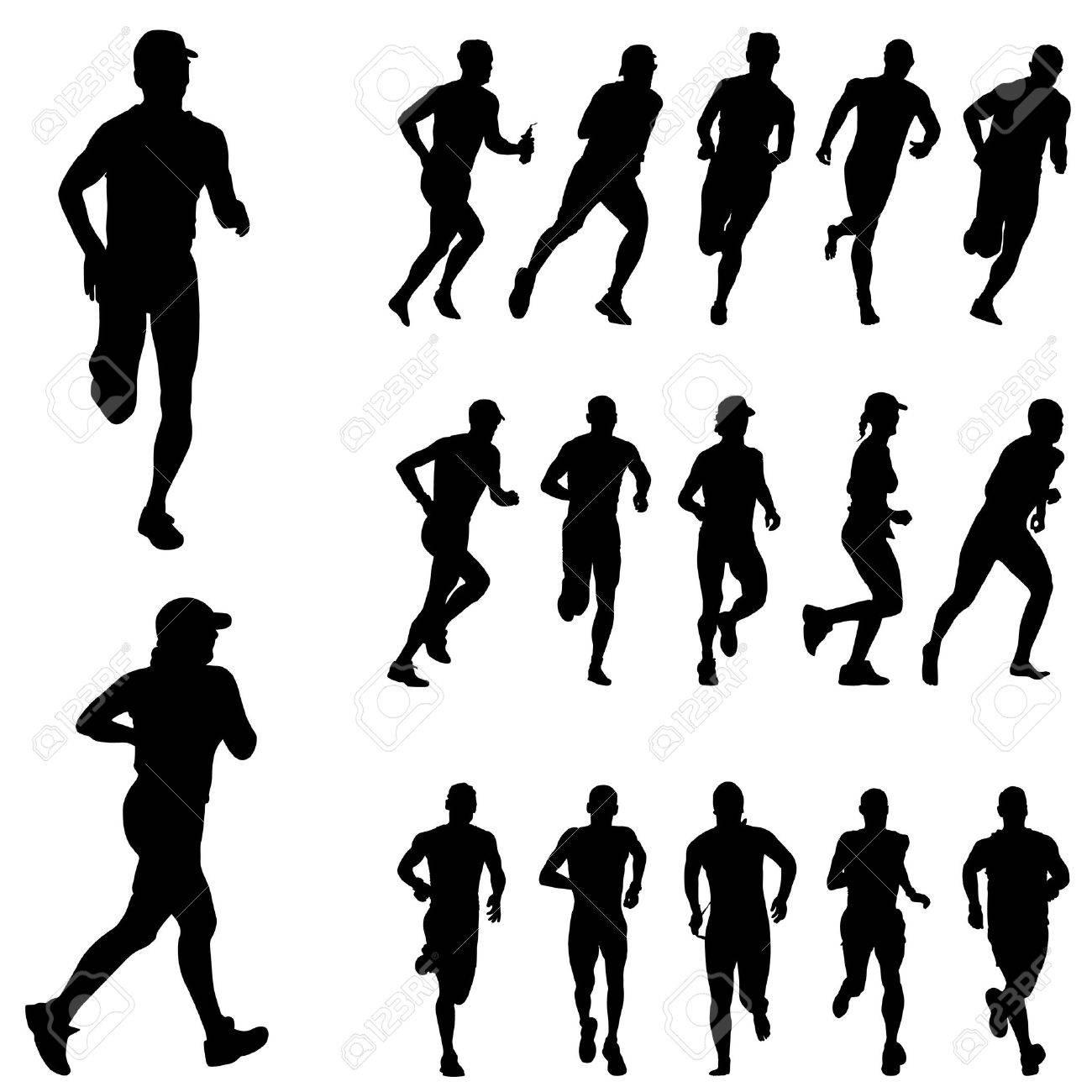 running people set Stock Vector - 8967410