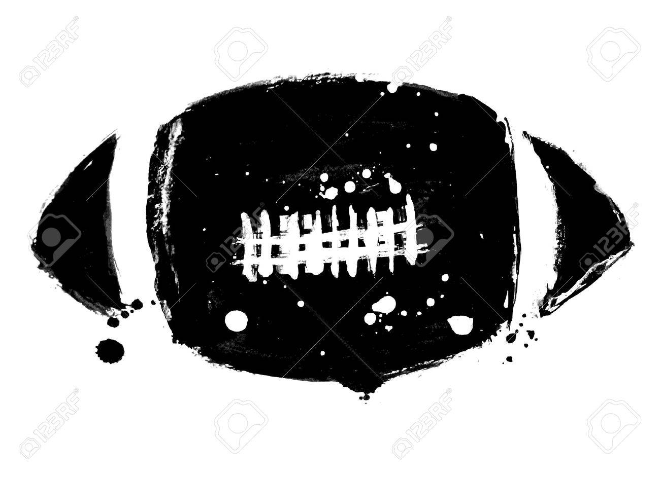 grunge american football Stock Vector - 8967444