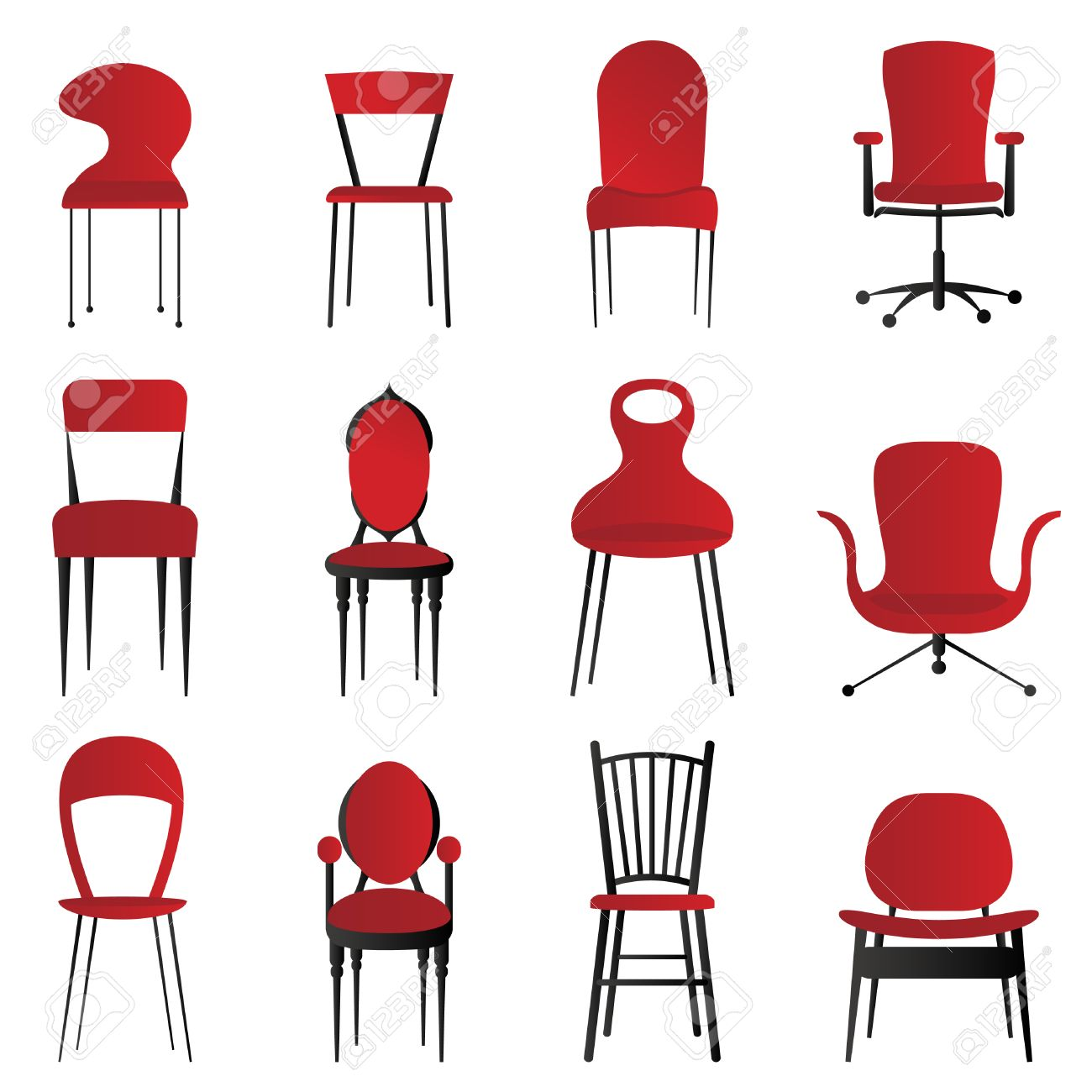 Red Chairs Royalty Free Cliparts Vectors And Stock Illustration