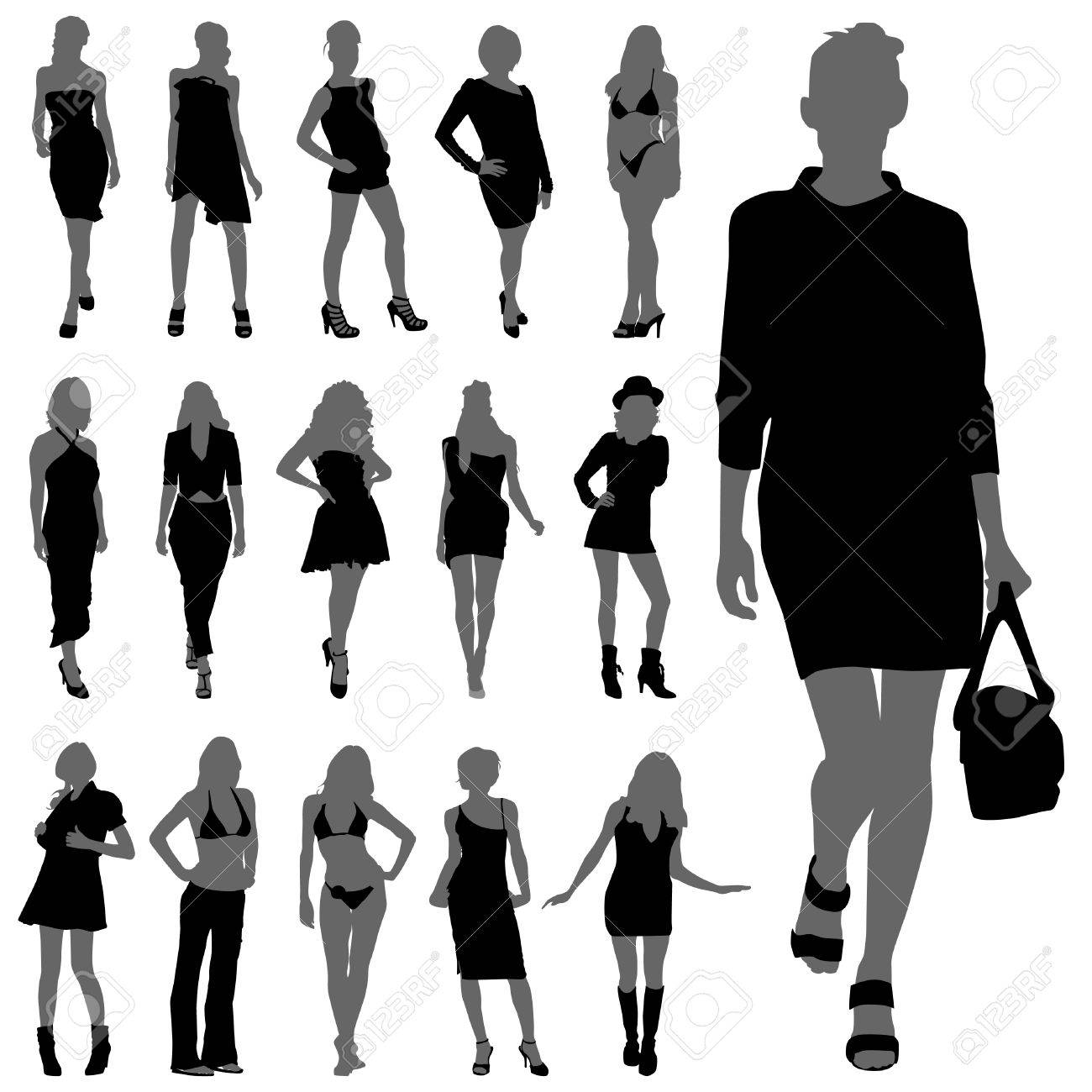 fashion woman silhouettes Stock Vector - 9060245