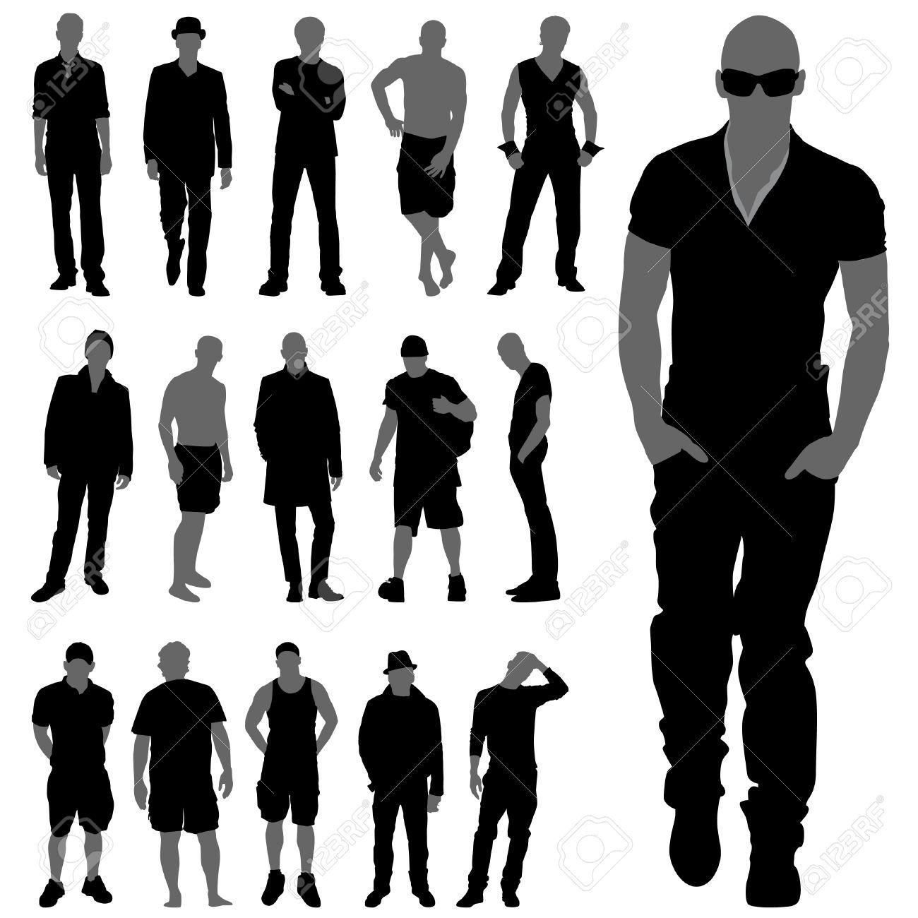 e35e14f5bfb Fashion man silhouettes royalty free cliparts vectors and stock jpg  1300x1300 Man silhouette fashion