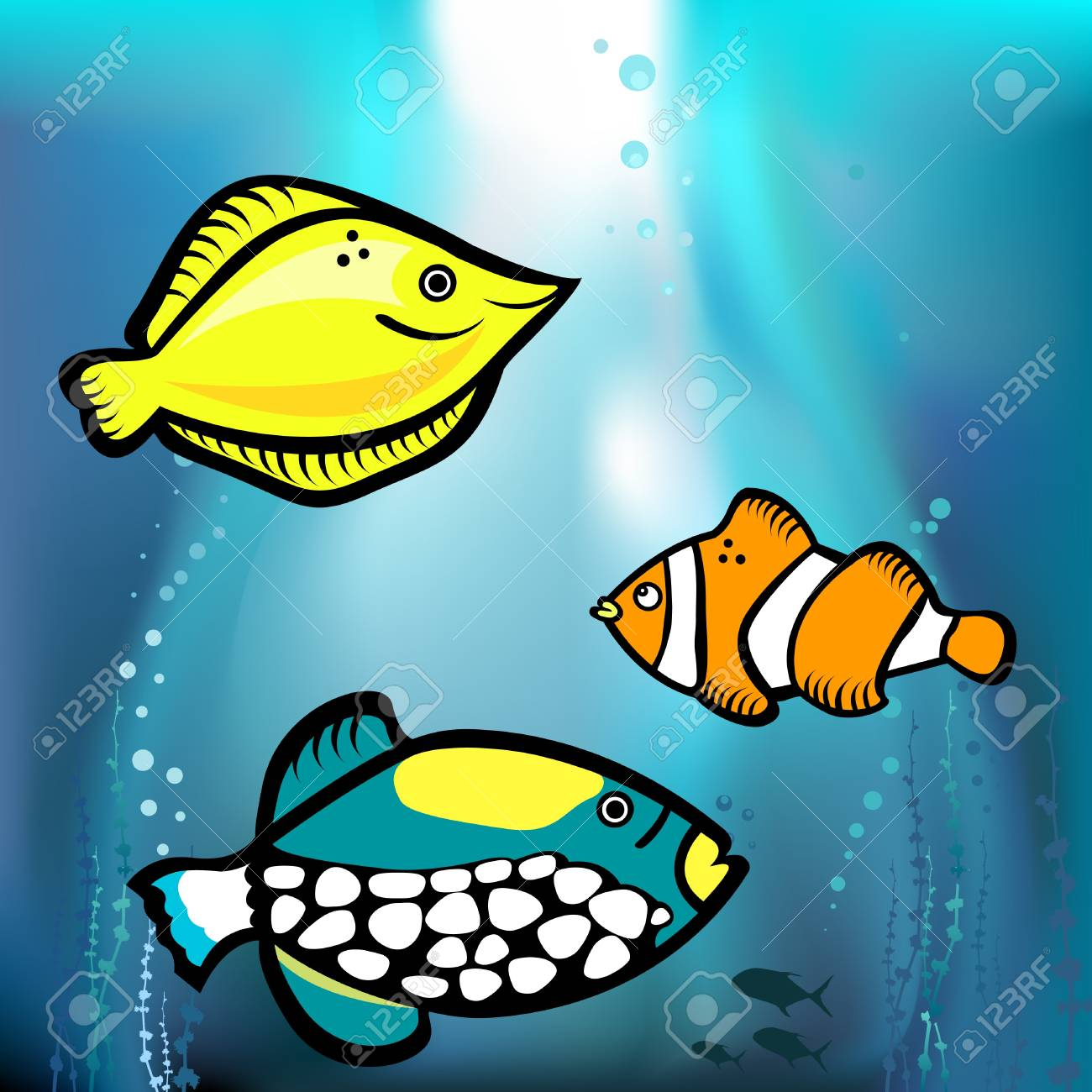 fish graphic vector Stock Vector - 9148477