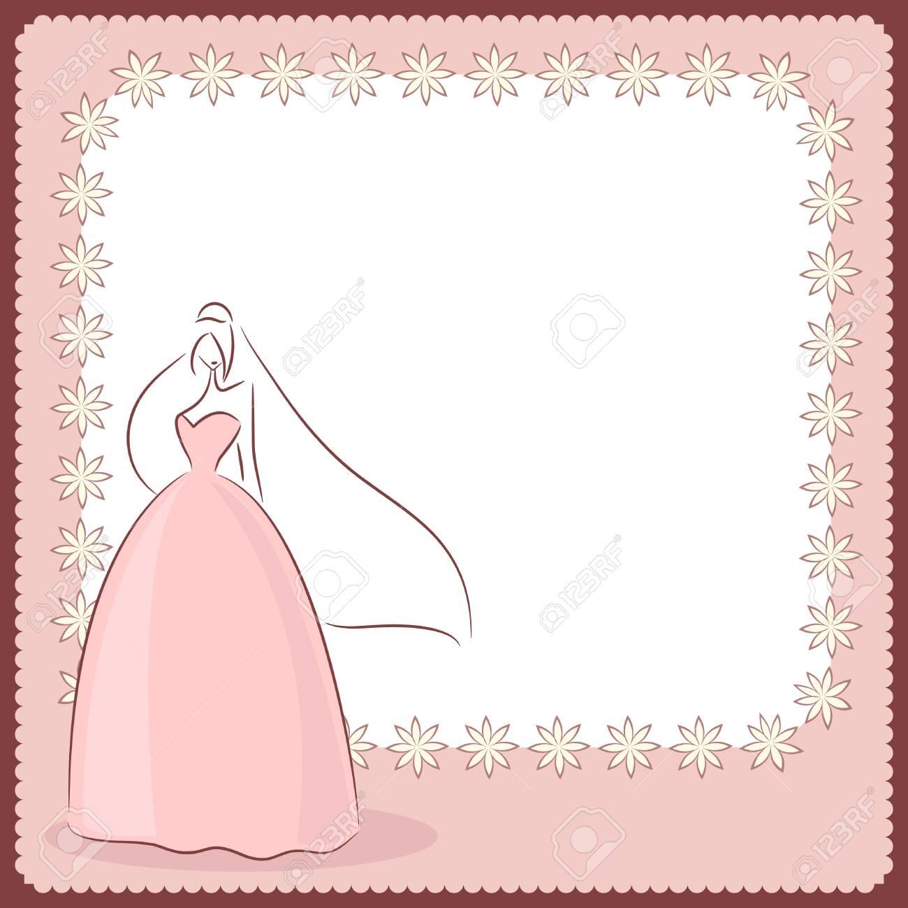 wedding card Stock Vector - 9196271