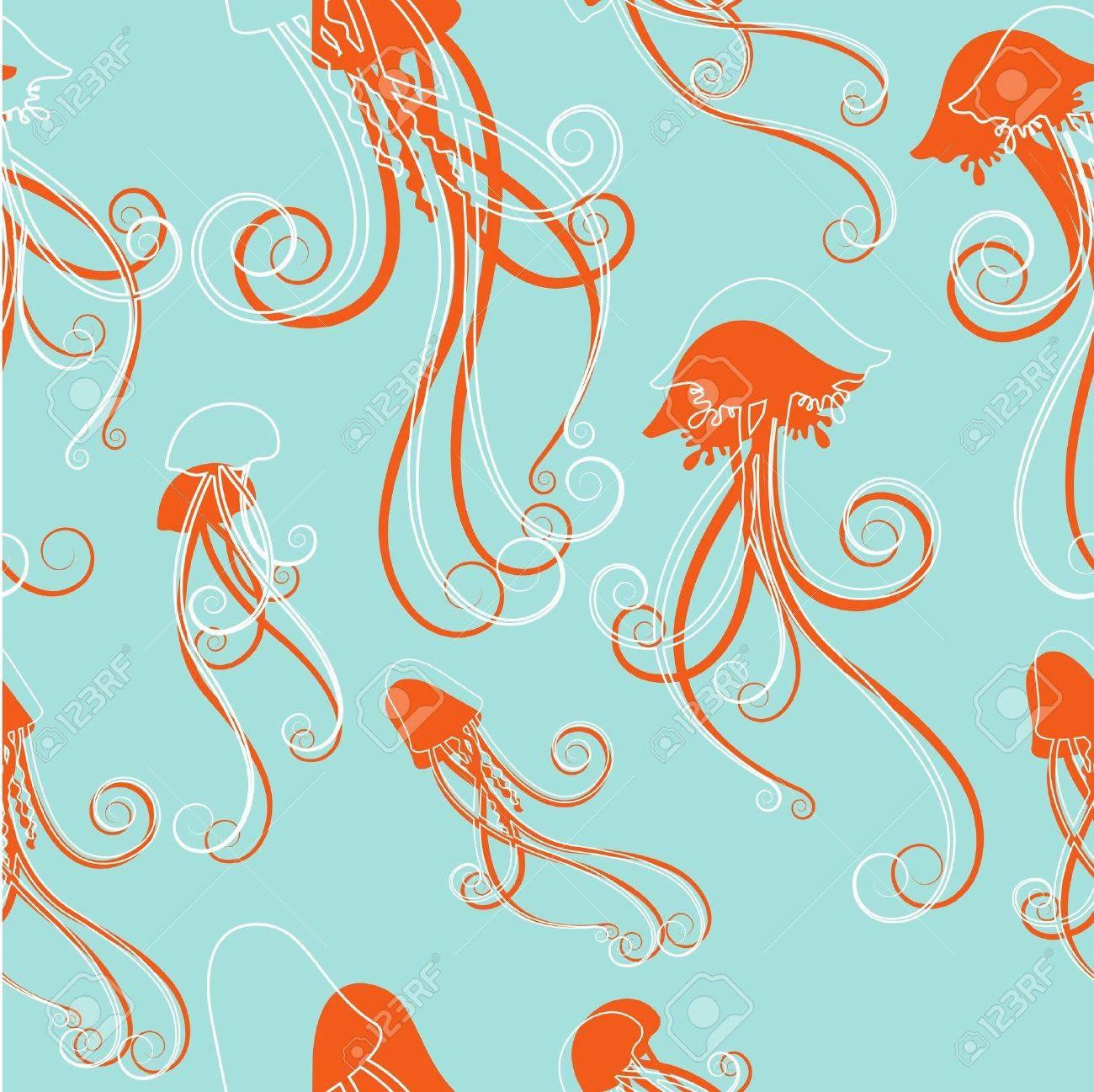 jellyfish pattern Stock Vector - 9196339