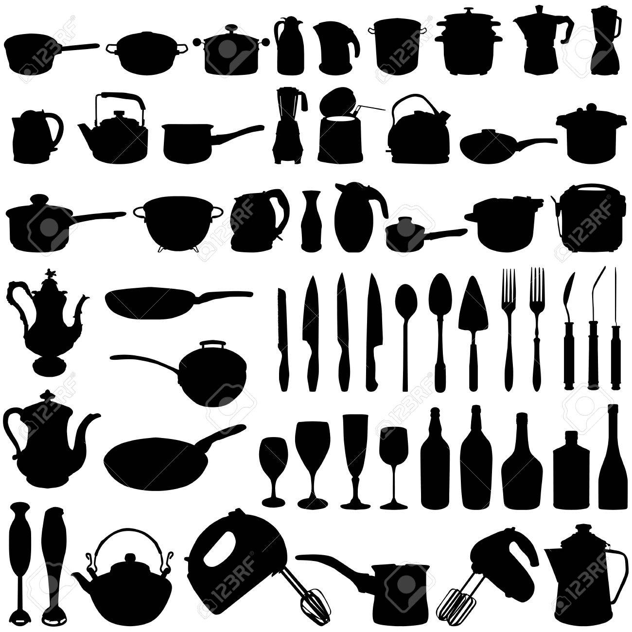 Oggetti Di Cucina Clipart Royalty-free, Vettori E Illustrator ...