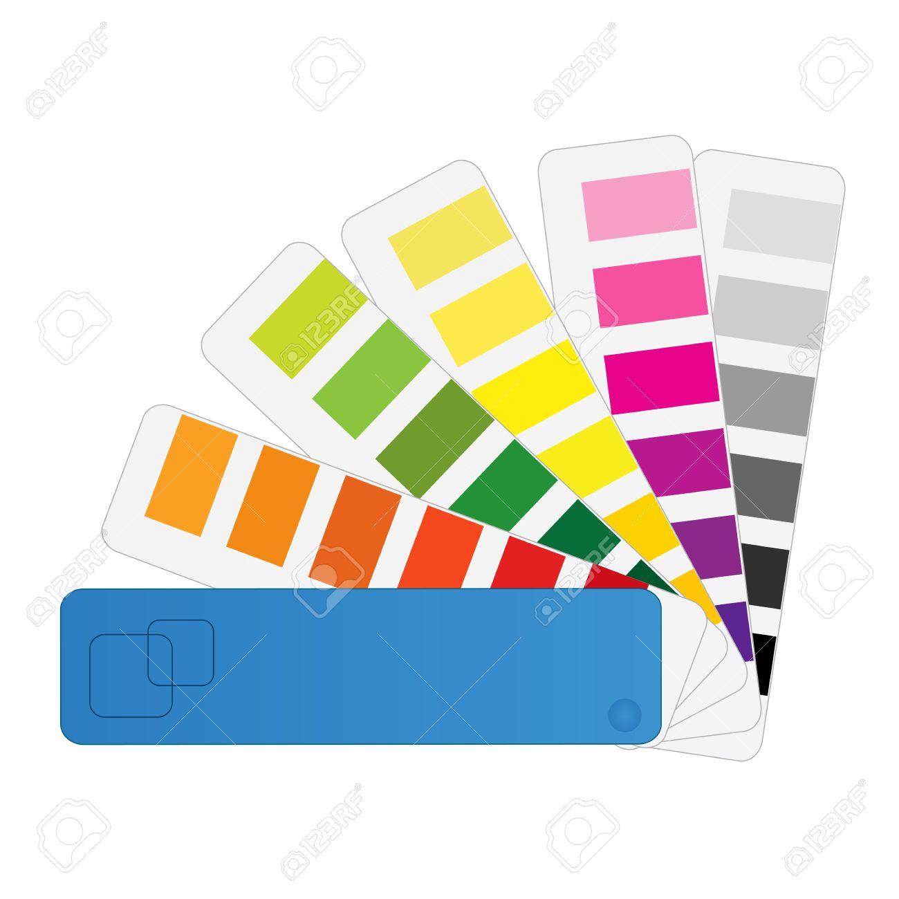 Pantone Color Swatch Color Chart Vector Pantone