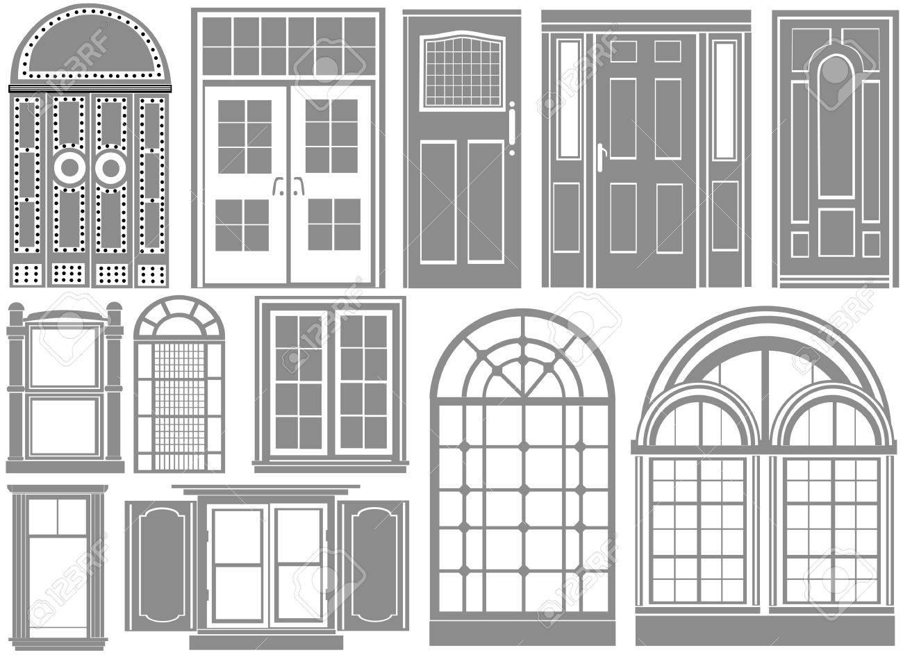 door and window Stock Vector - 9315907