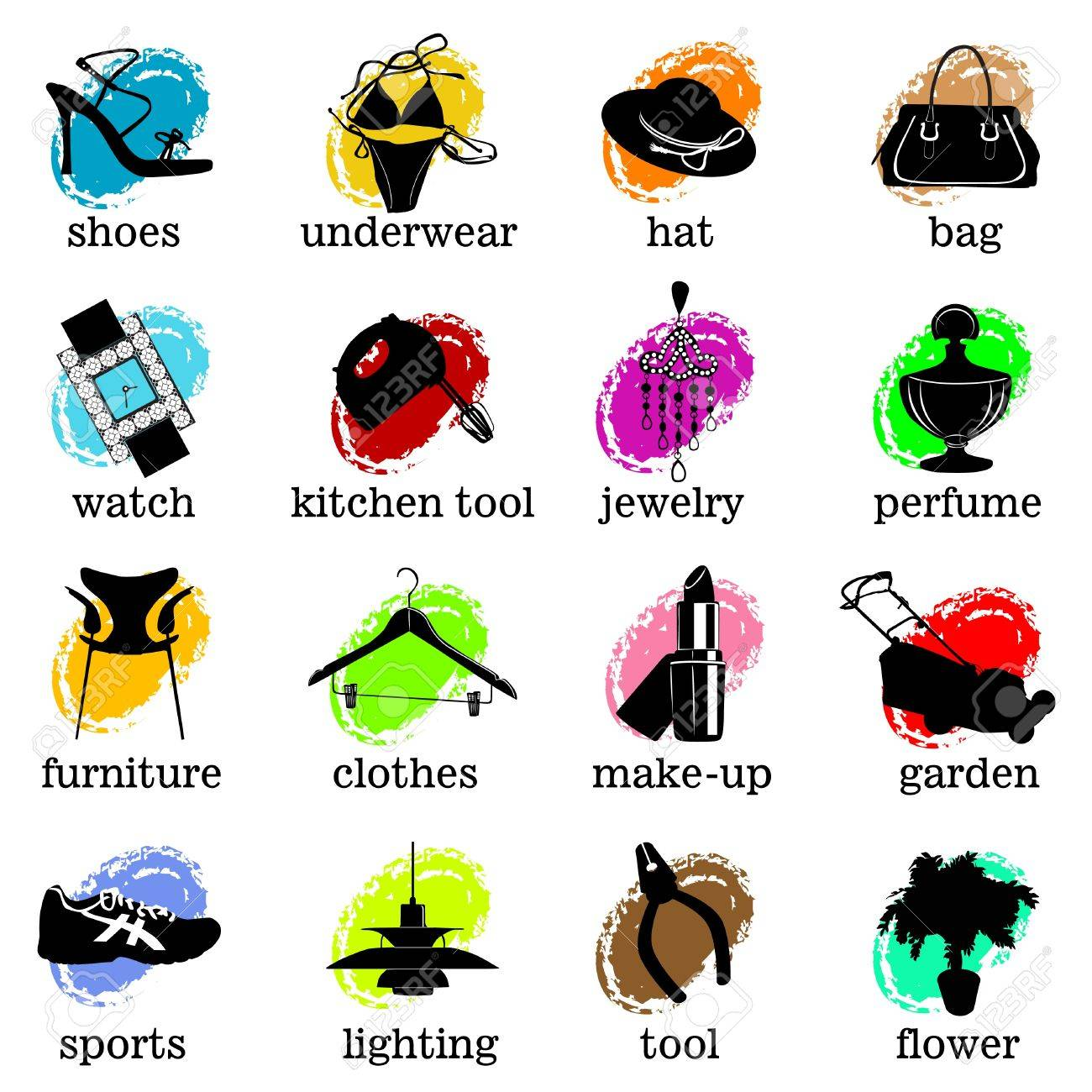 Web Site Category Icons Vector Stock
