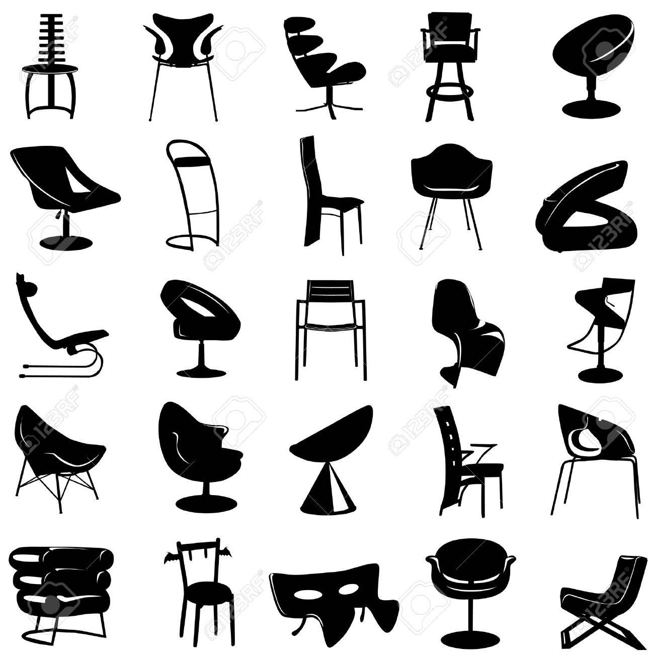 modern chair vector Stock Vector - 9345582