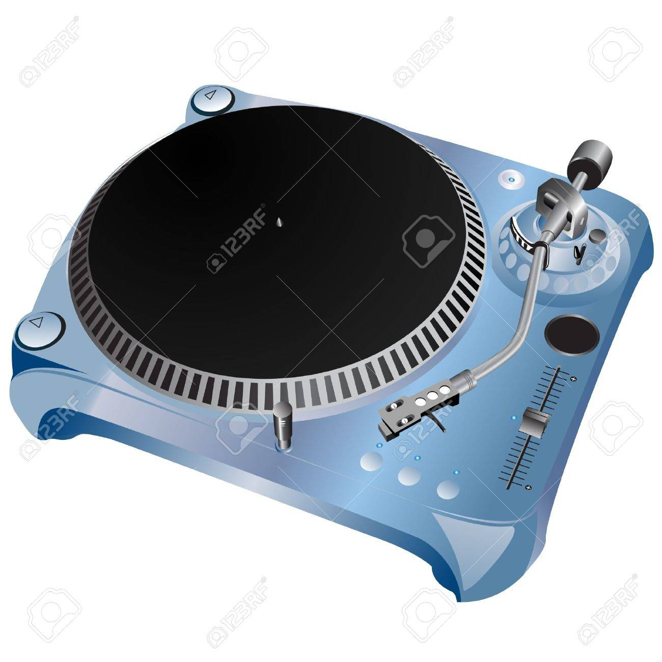 turntable  vector Stock Vector - 9345606