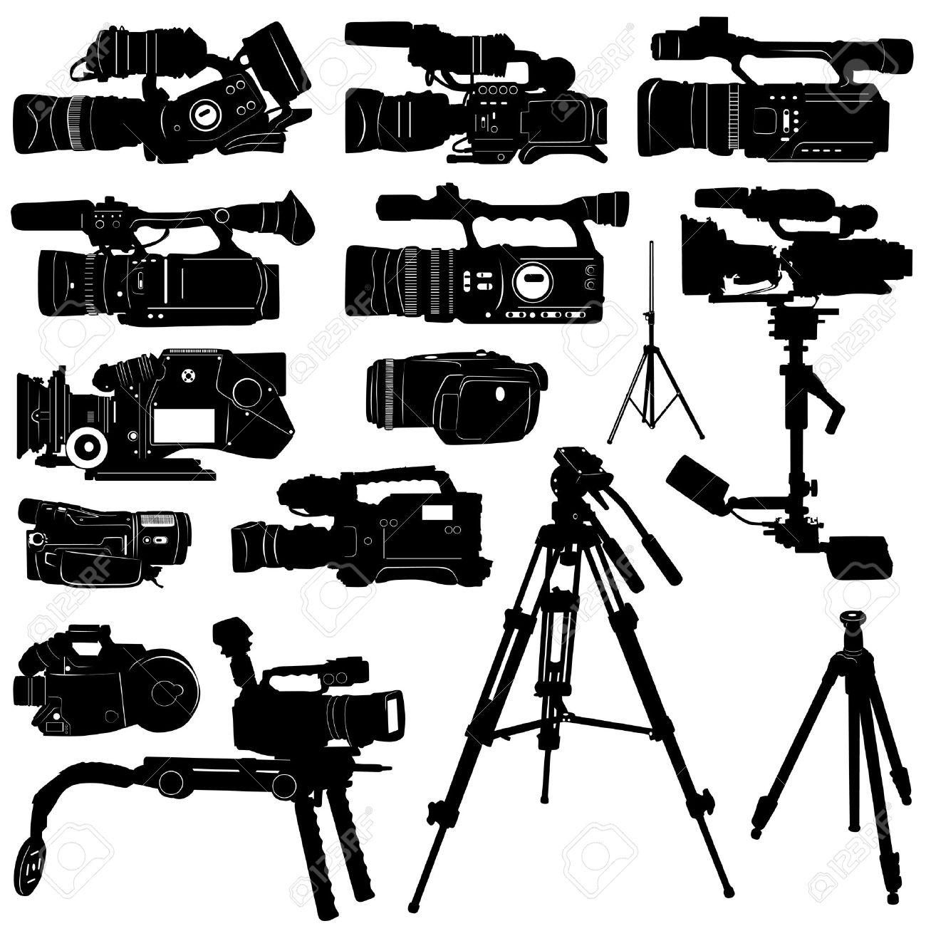 vector de cámara y trípode  Foto de archivo - 9402035