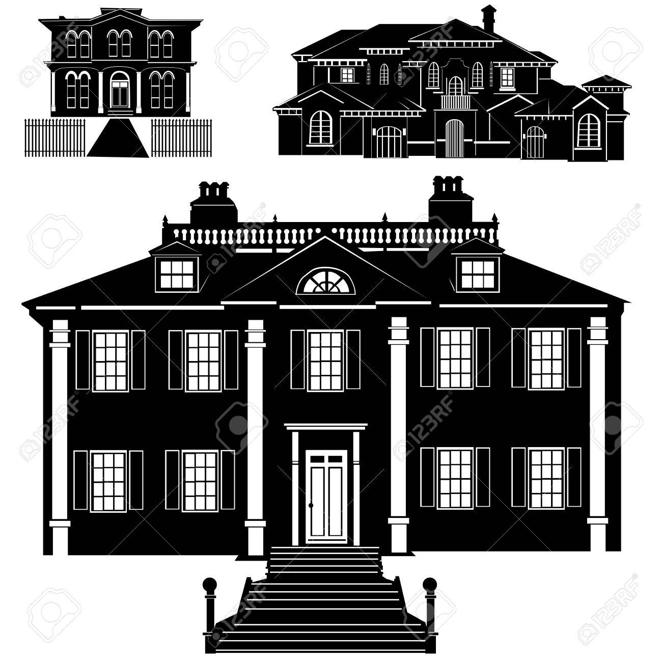 residences vector Stock Vector - 9402029