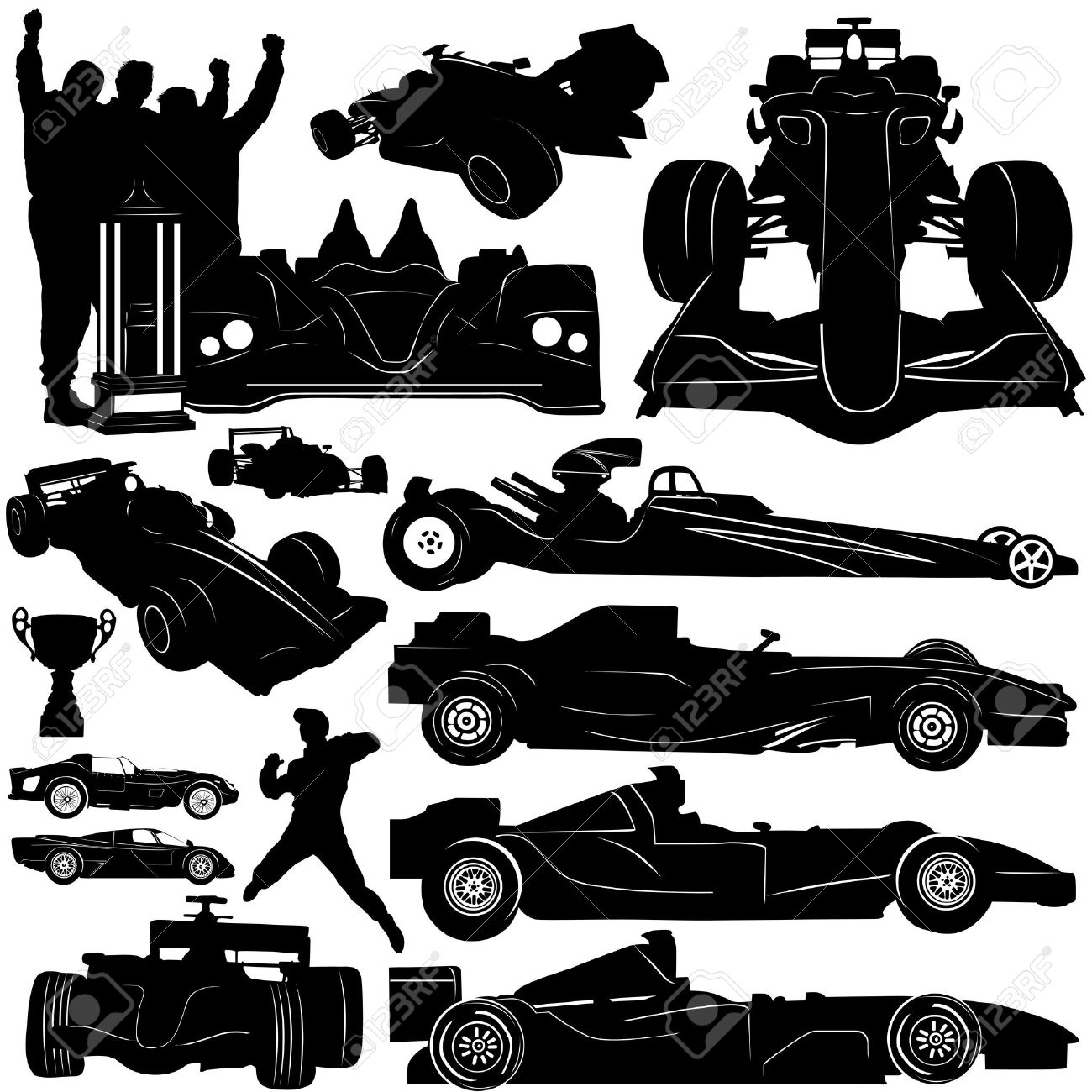 formula and race car vector Stock Vector - 9401887