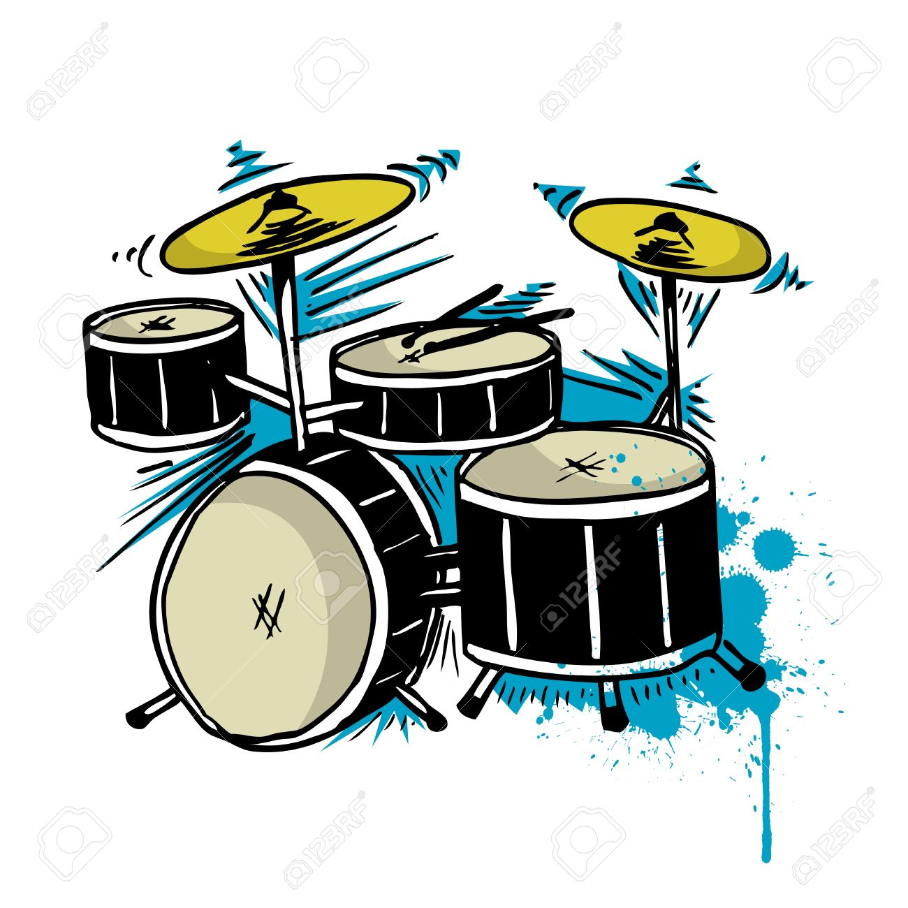drum drawing Stock Vector - 9401313