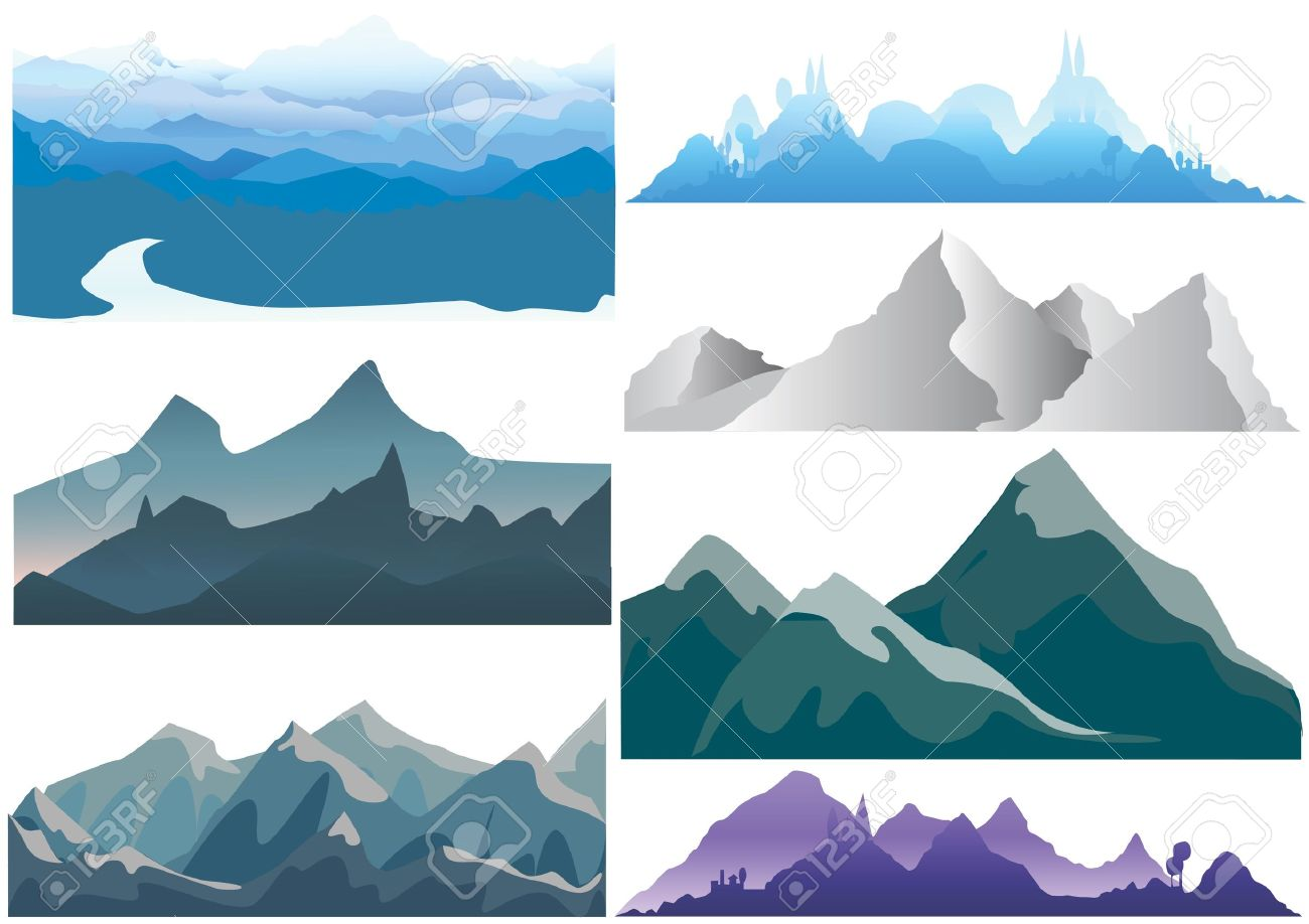 Mountain Silhouette mountain royalty free cliparts, vectors, and stock illustration