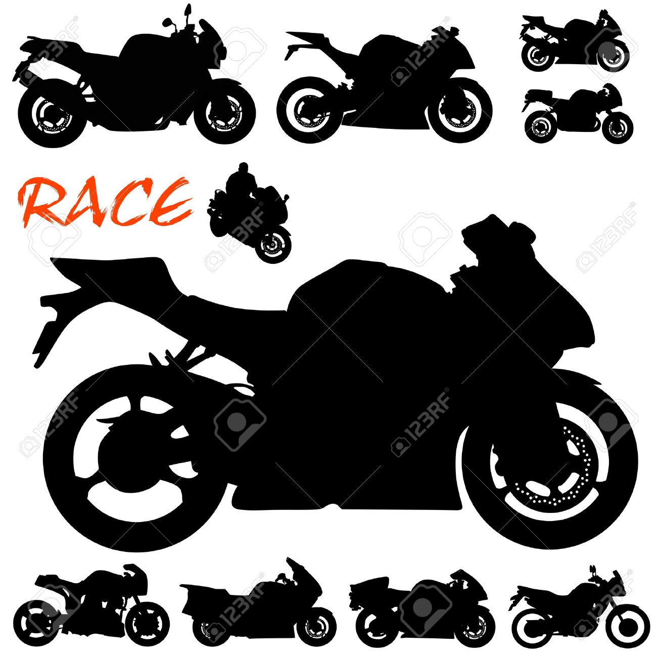 race motorcycle vector Stock Vector - 9505710
