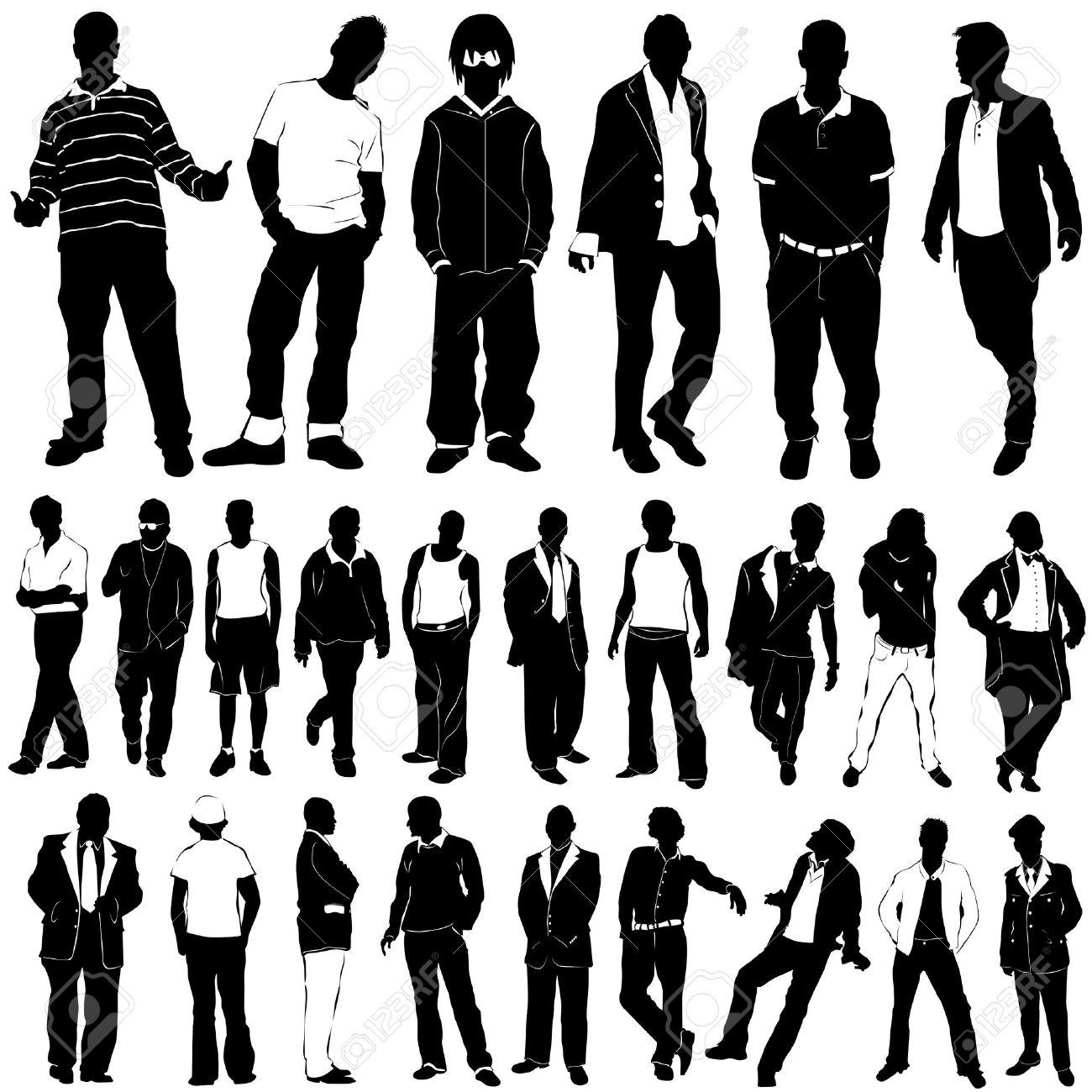 1e1fb8fbb1f Fashion men vector clothes detail royalty free cliparts vectors jpg  1300x1300 Mens fashion silhouette