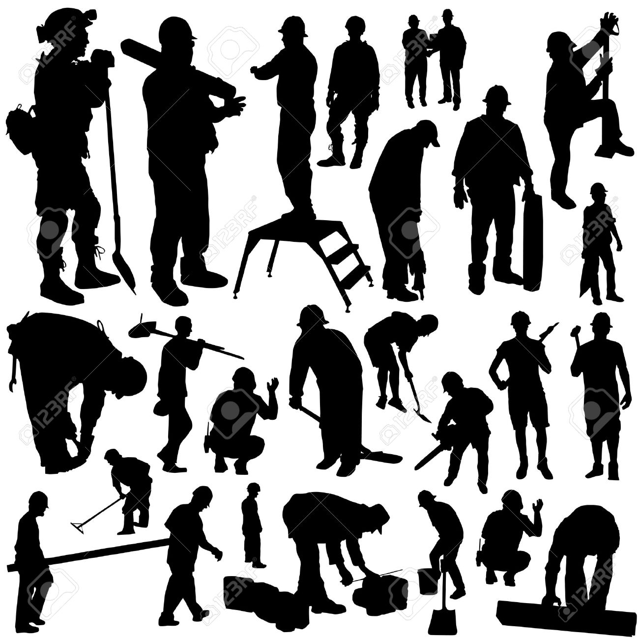 Construction Workers Vector Stock