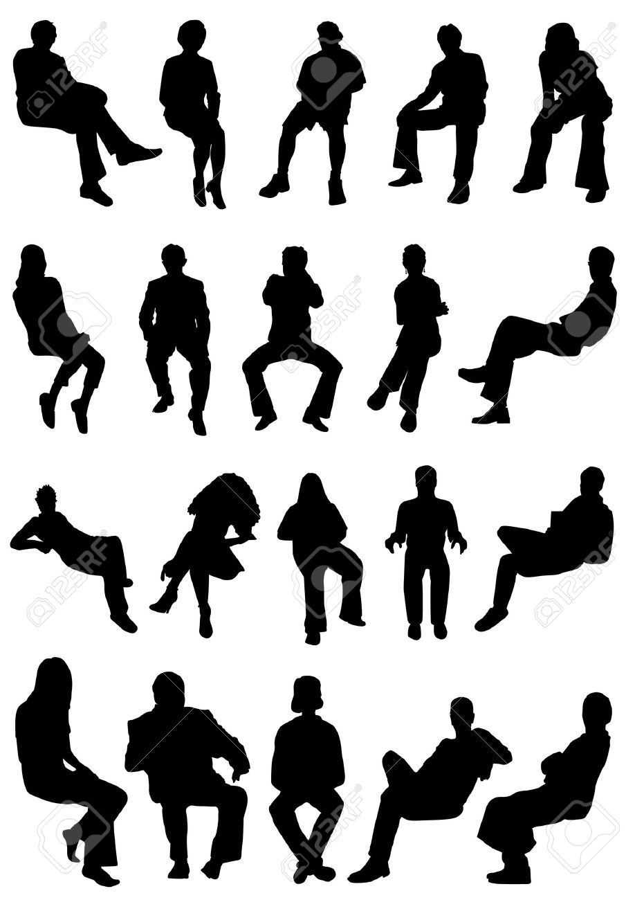 sitting people  collection of sitting people vector. Sitting People Stock Photos  Royalty Free Sitting People Images