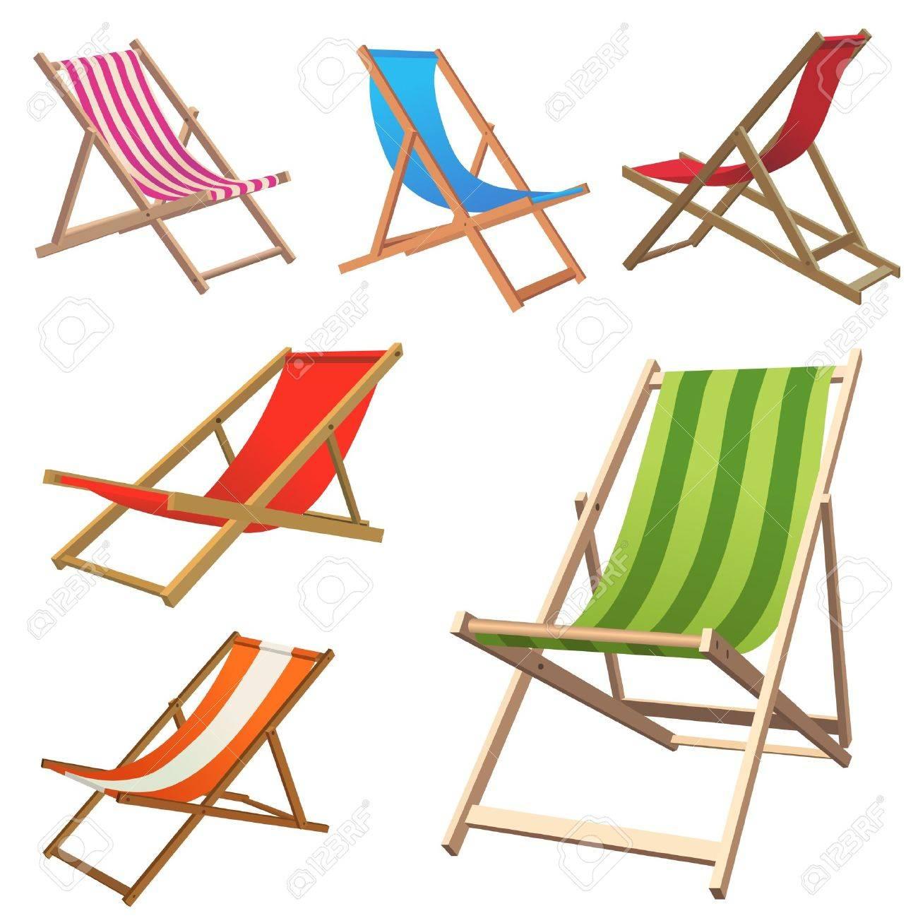 Beach Chair Stock Vector - 9878257