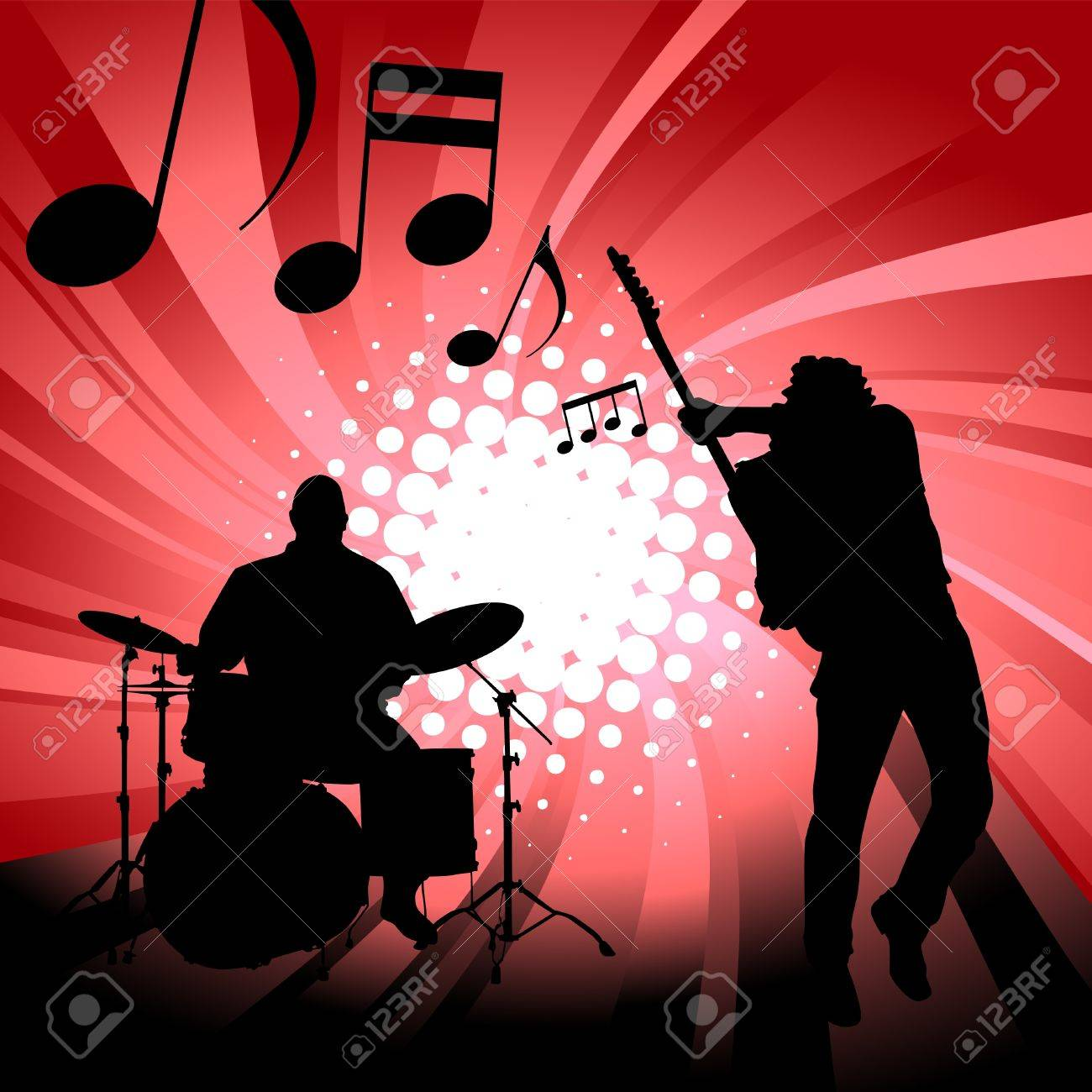 Musical group Stock Vector - 10035037