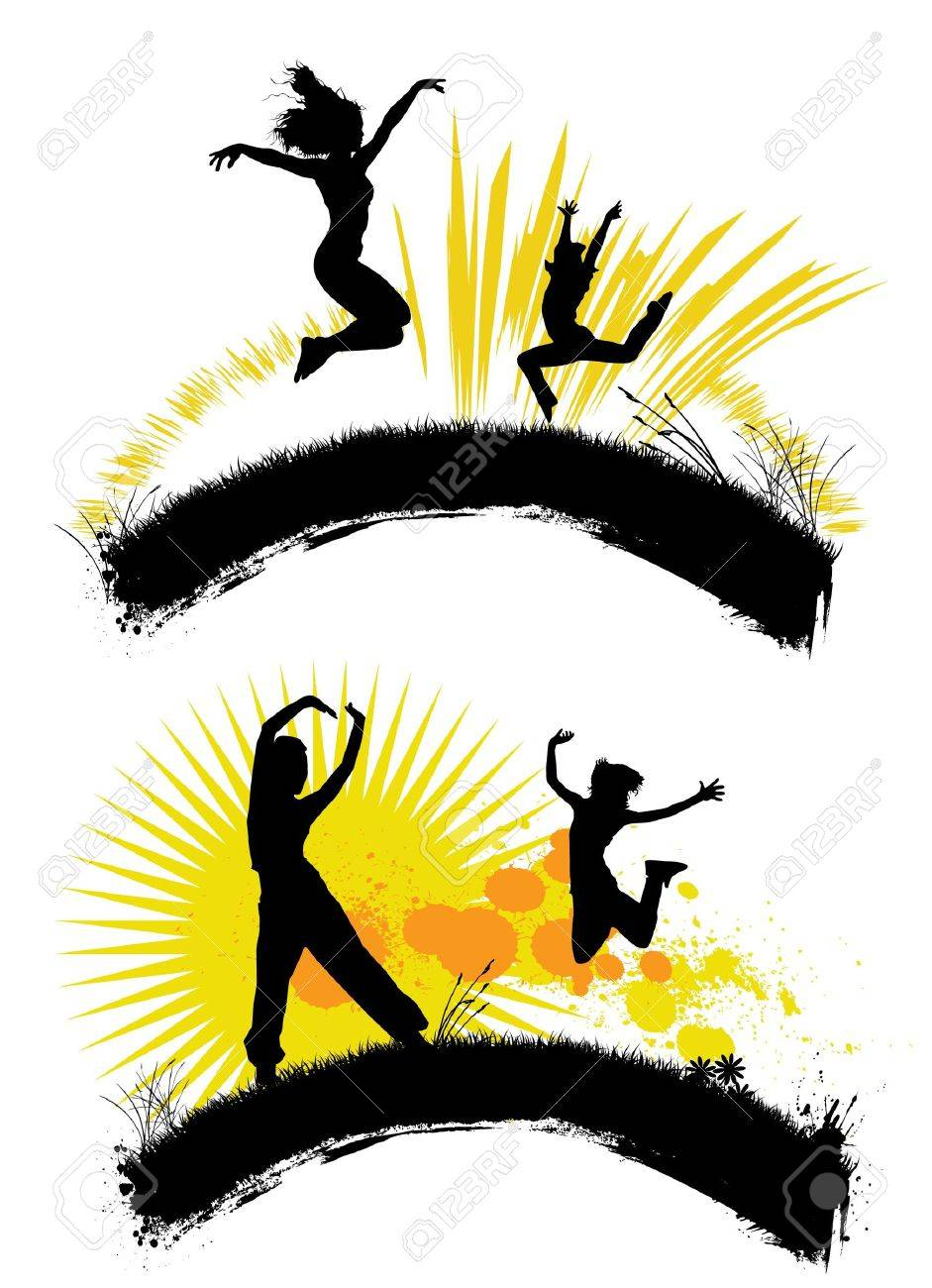 jumping people Stock Vector - 10035057