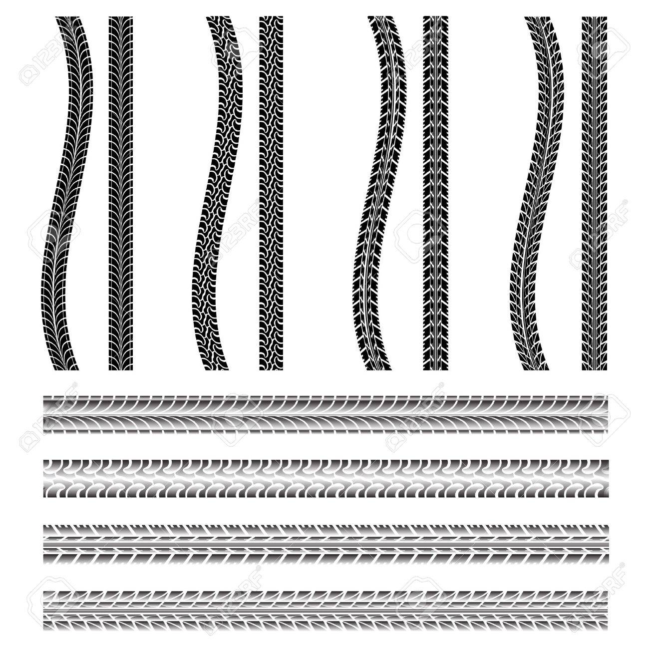 Various automobile tyre Stock Vector - 10182952