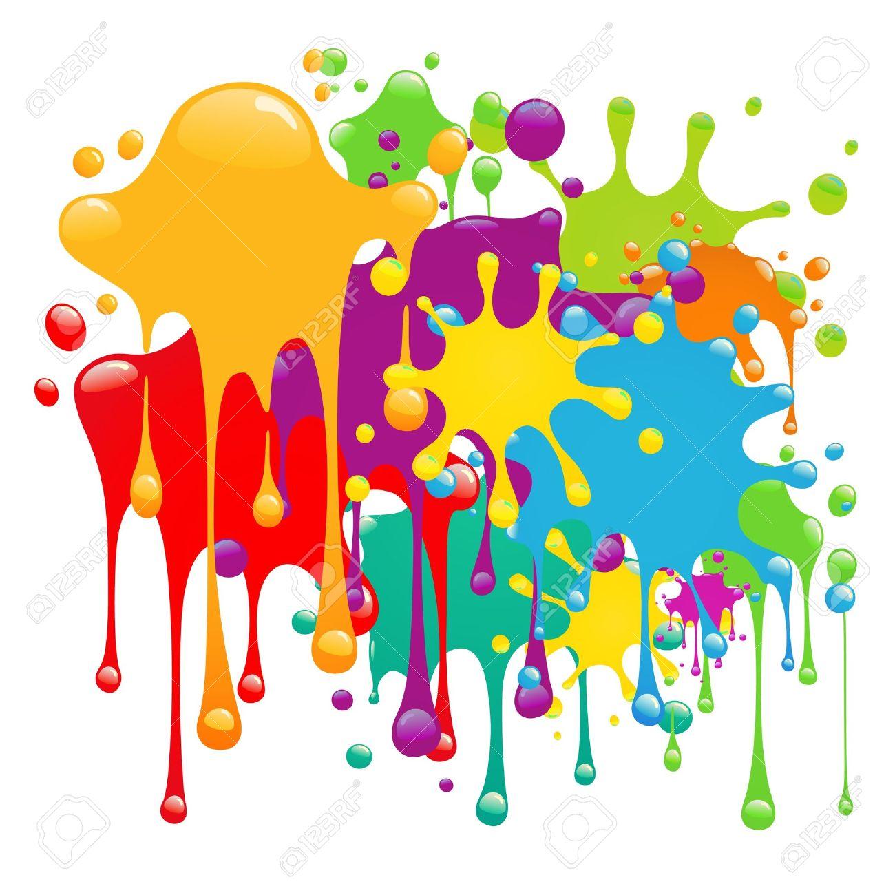 Color paint splashes - 10330660