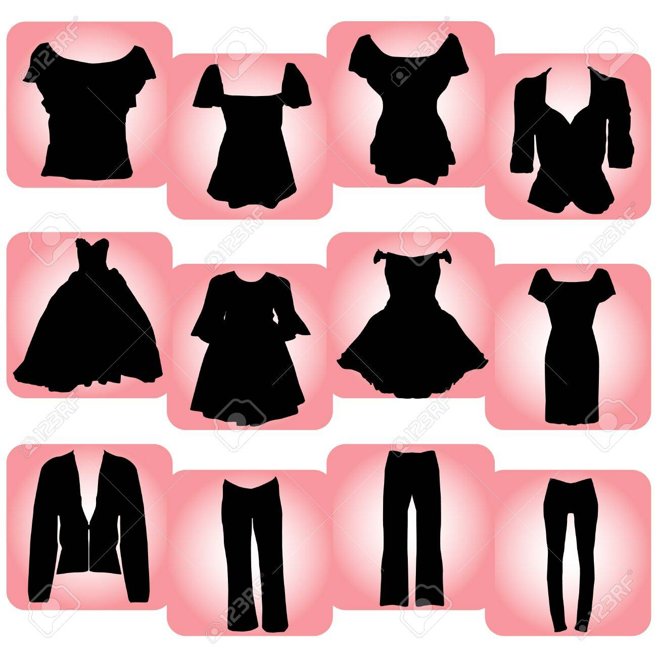 Fashion for women clip art - Women S Fashion Womens Clothes Illustration