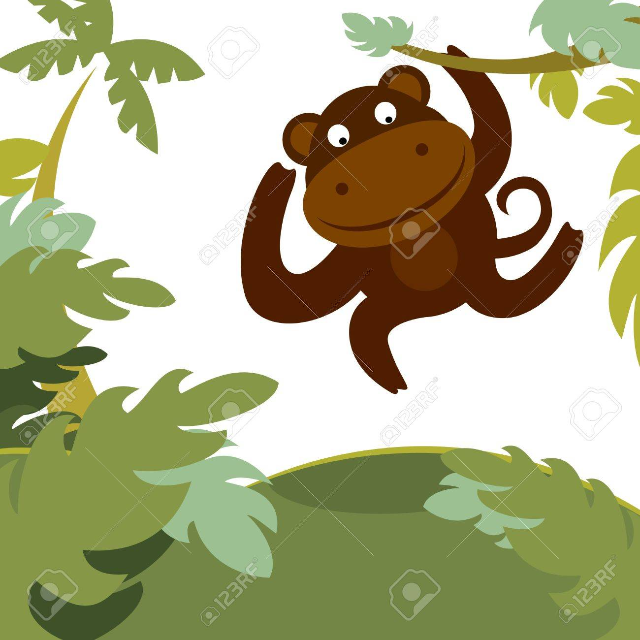 monkey in forest Stock Vector - 11031074