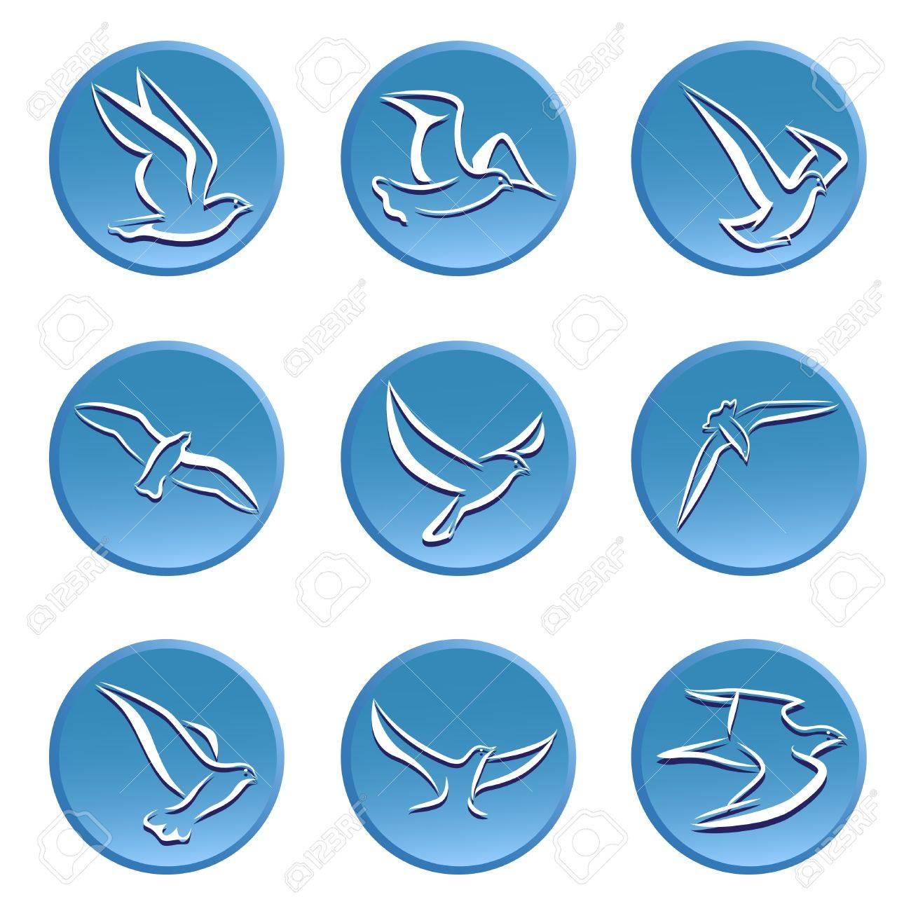 bird icon set Stock Vector - 11155525
