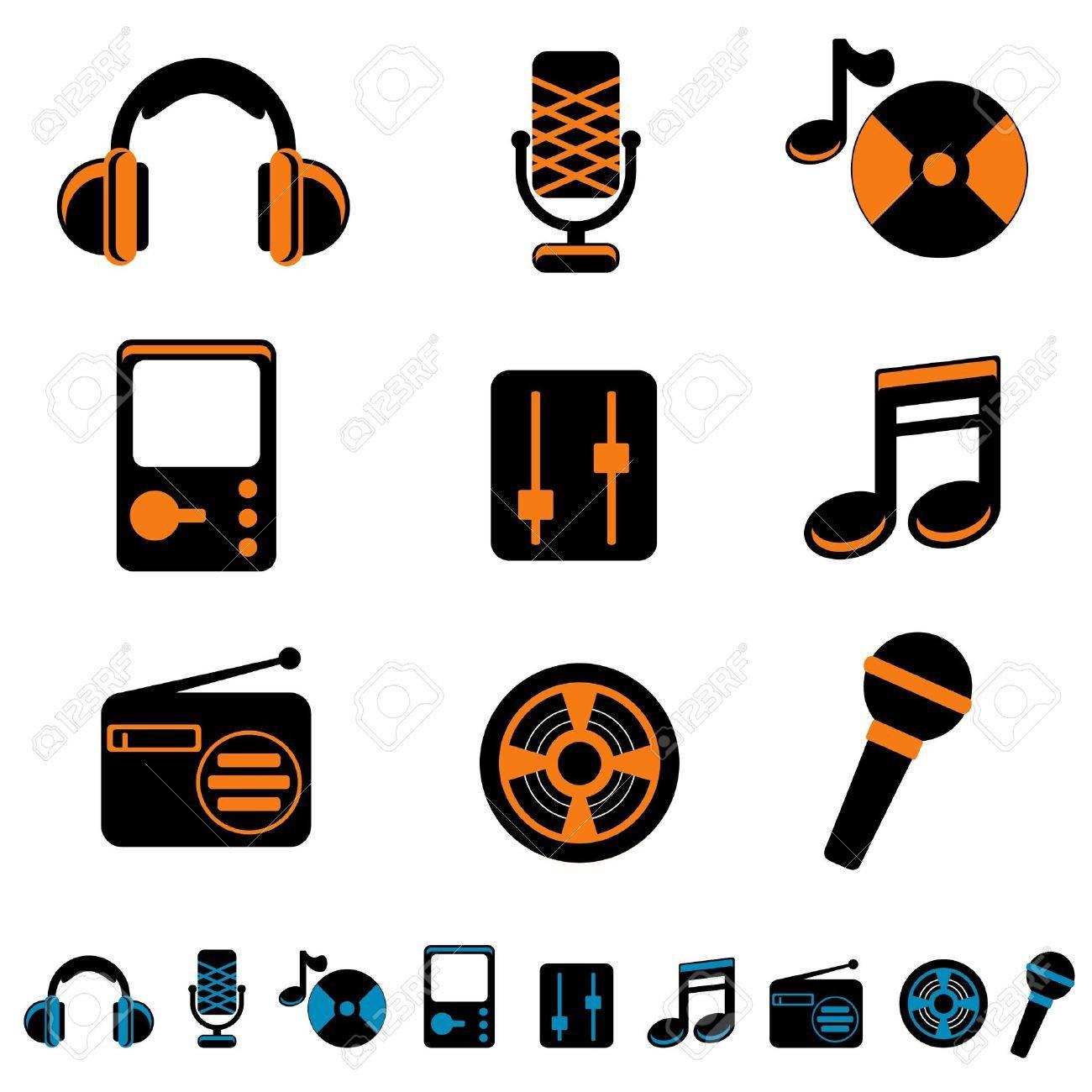 music icon set Stock Vector - 11155521