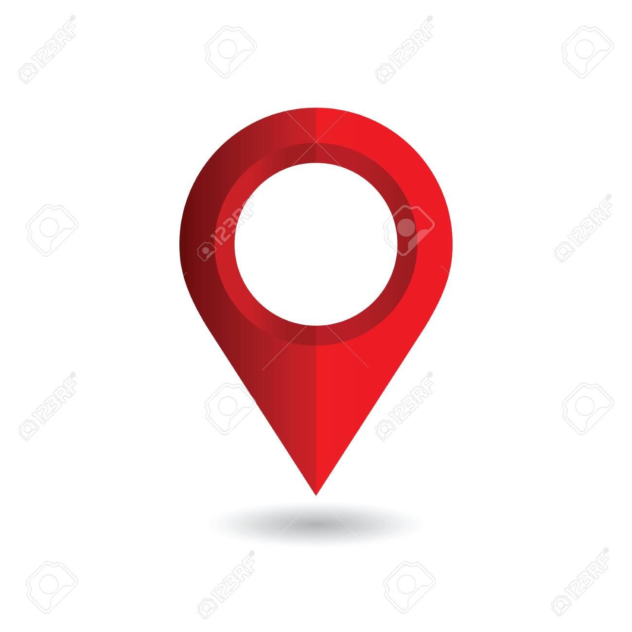 Map pin, location pointer. Vector illustration - 143578169