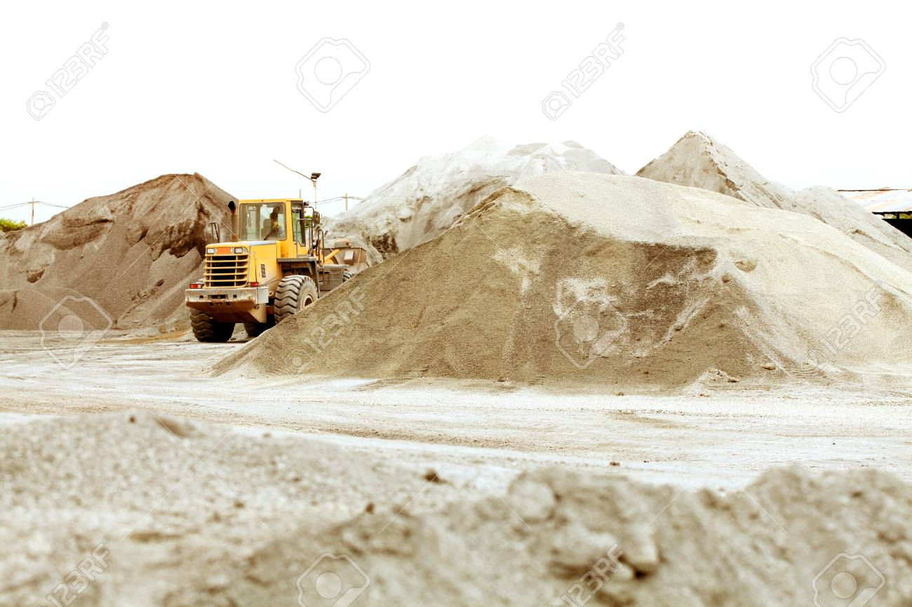 Excavator and truck in mine Stock Photo - 22028749
