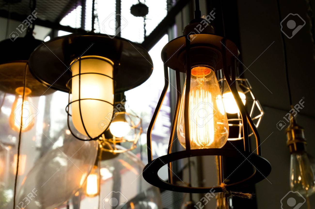 decorative antique style light bulbs stock photo picture and