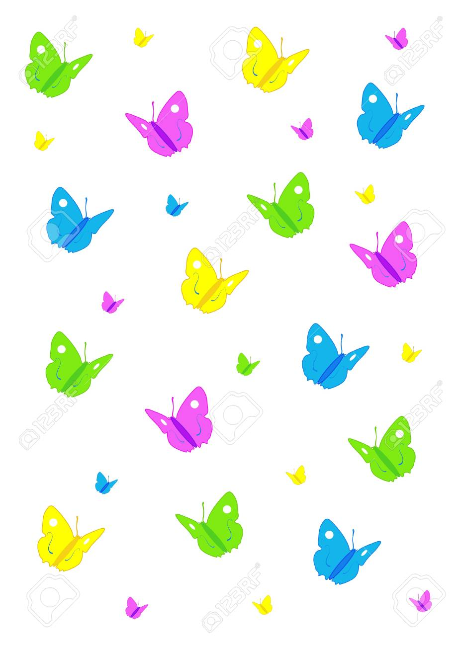 Butterflies background Stock Vector - 16145627