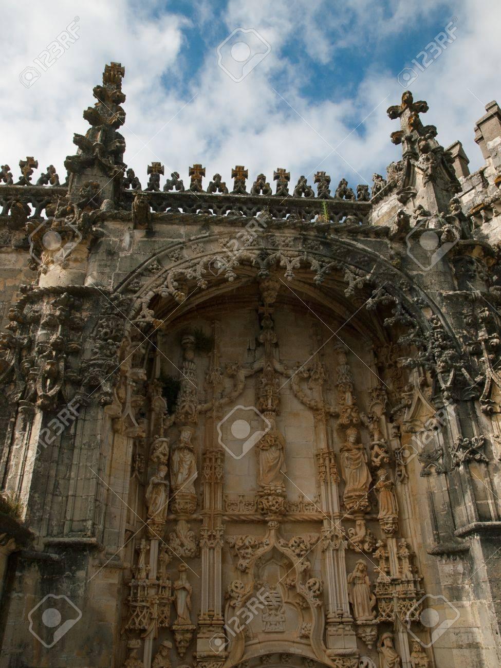Portail De L Eglise Cristo De Convento Tomar Au Portugal Banque D Images Et Photos Libres De Droits Image 11222419