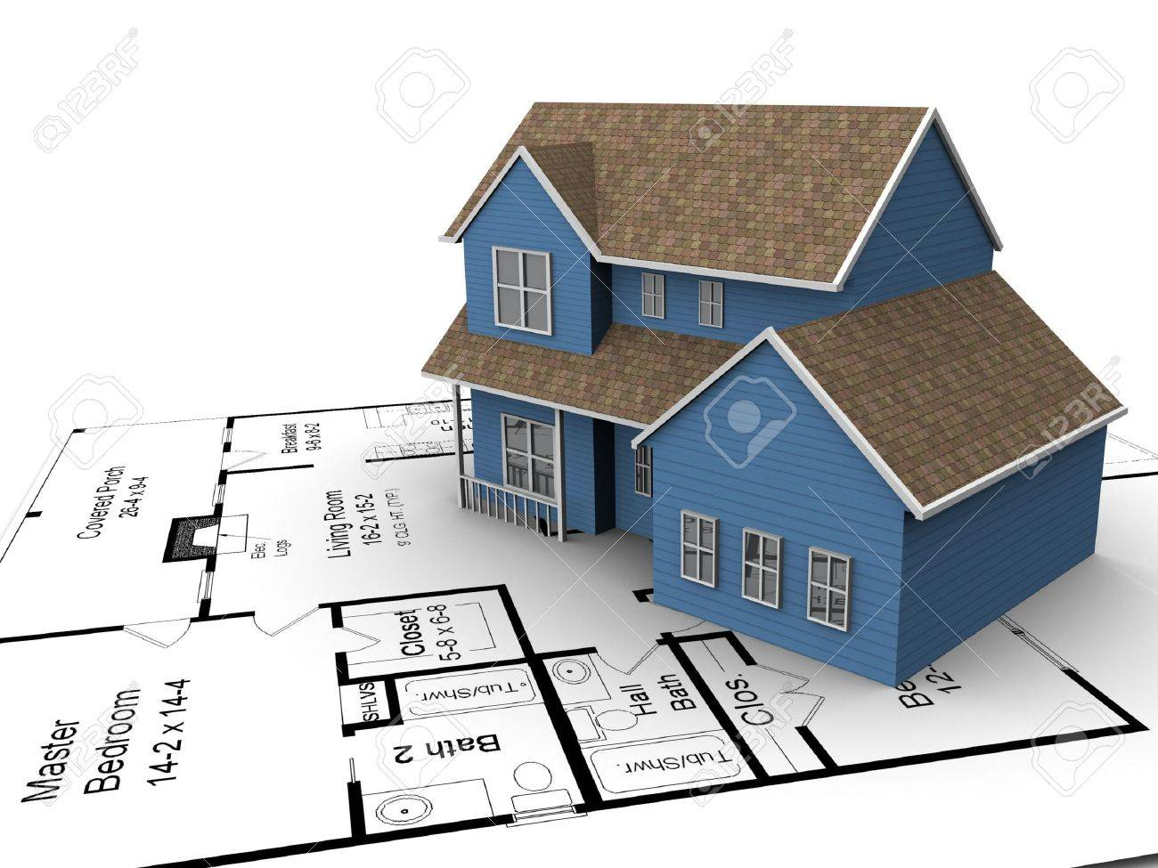 house plans stock photos pictures royalty free house plans house plans new build house on a set of building plans