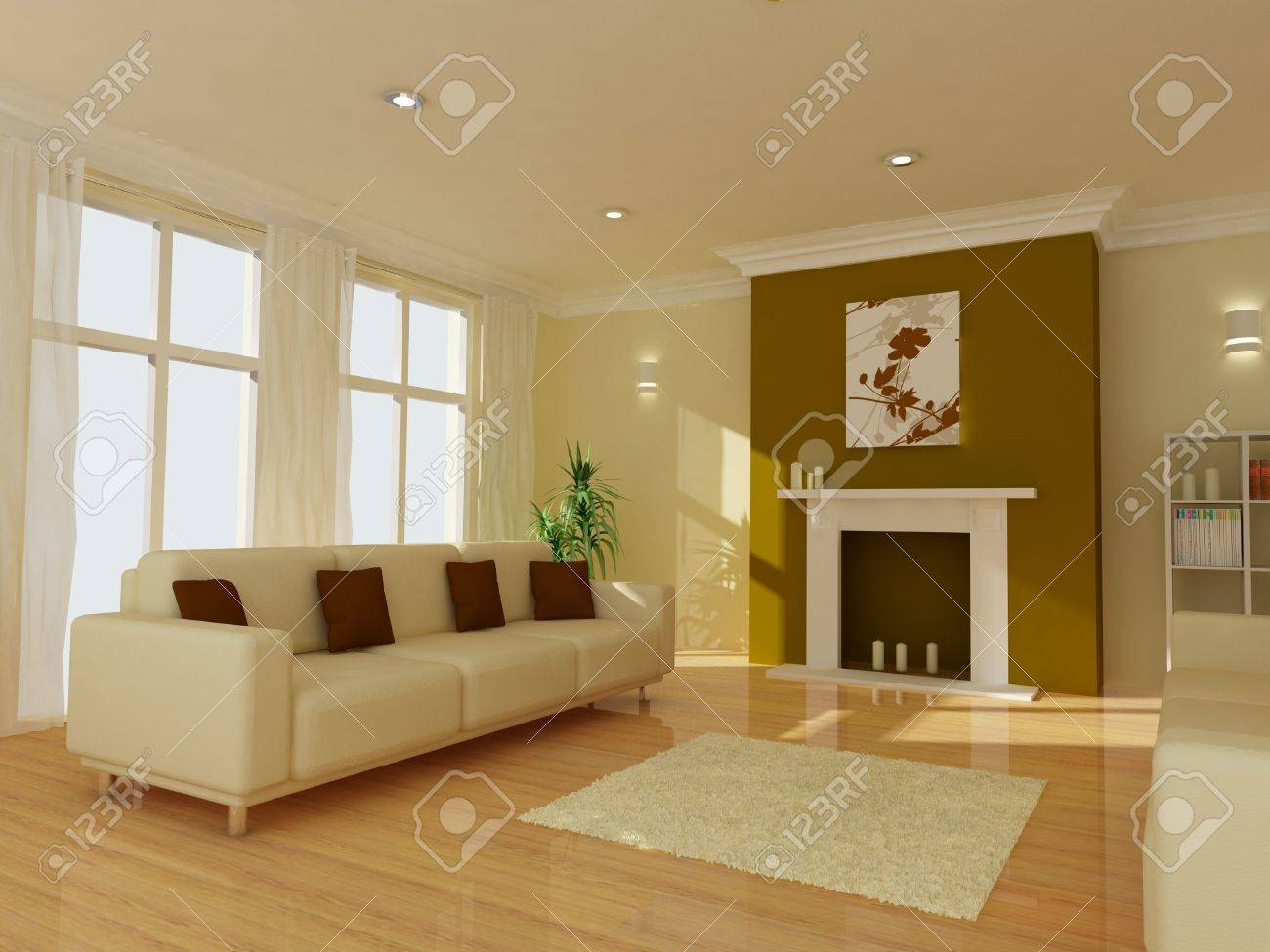 An image of a modern living room Stock Photo - 5088397