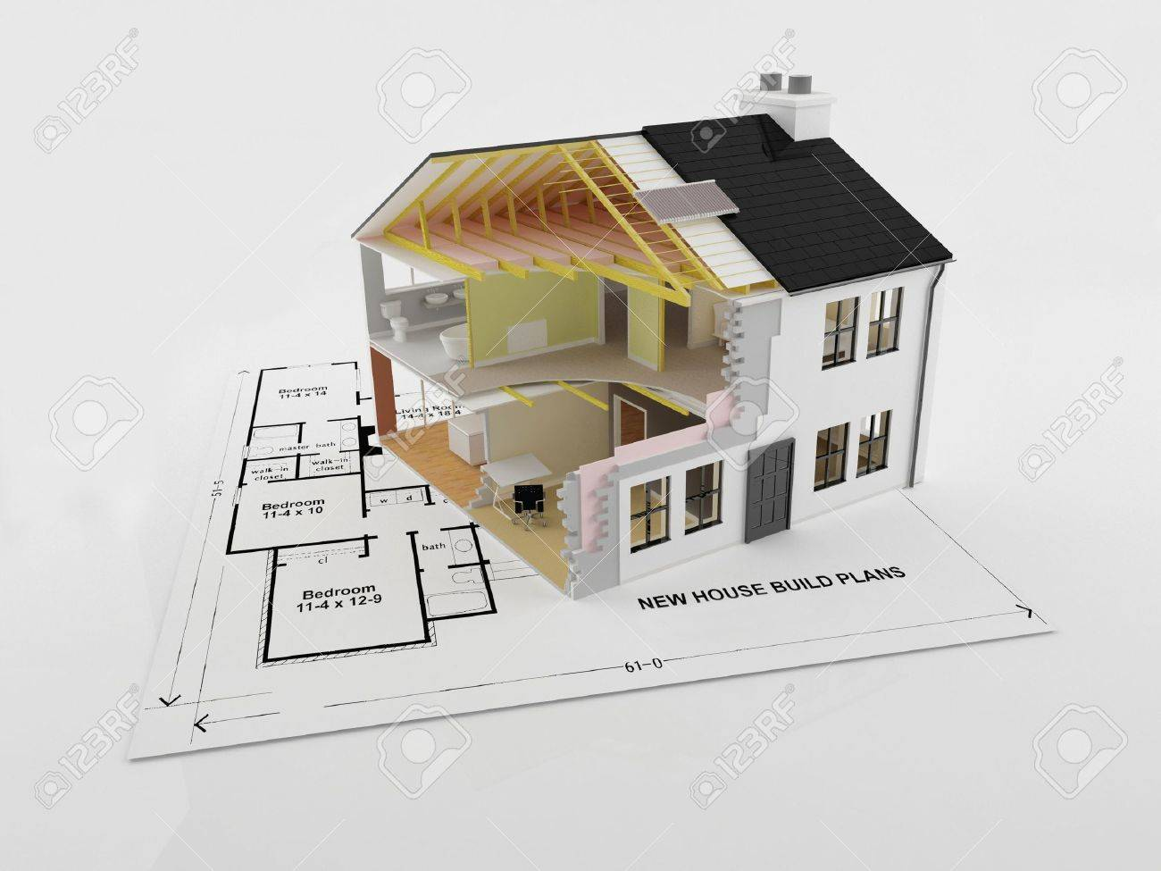 Pleasing Abstract Cross Section Image Of A New Energy Efficient New Home Download Free Architecture Designs Embacsunscenecom