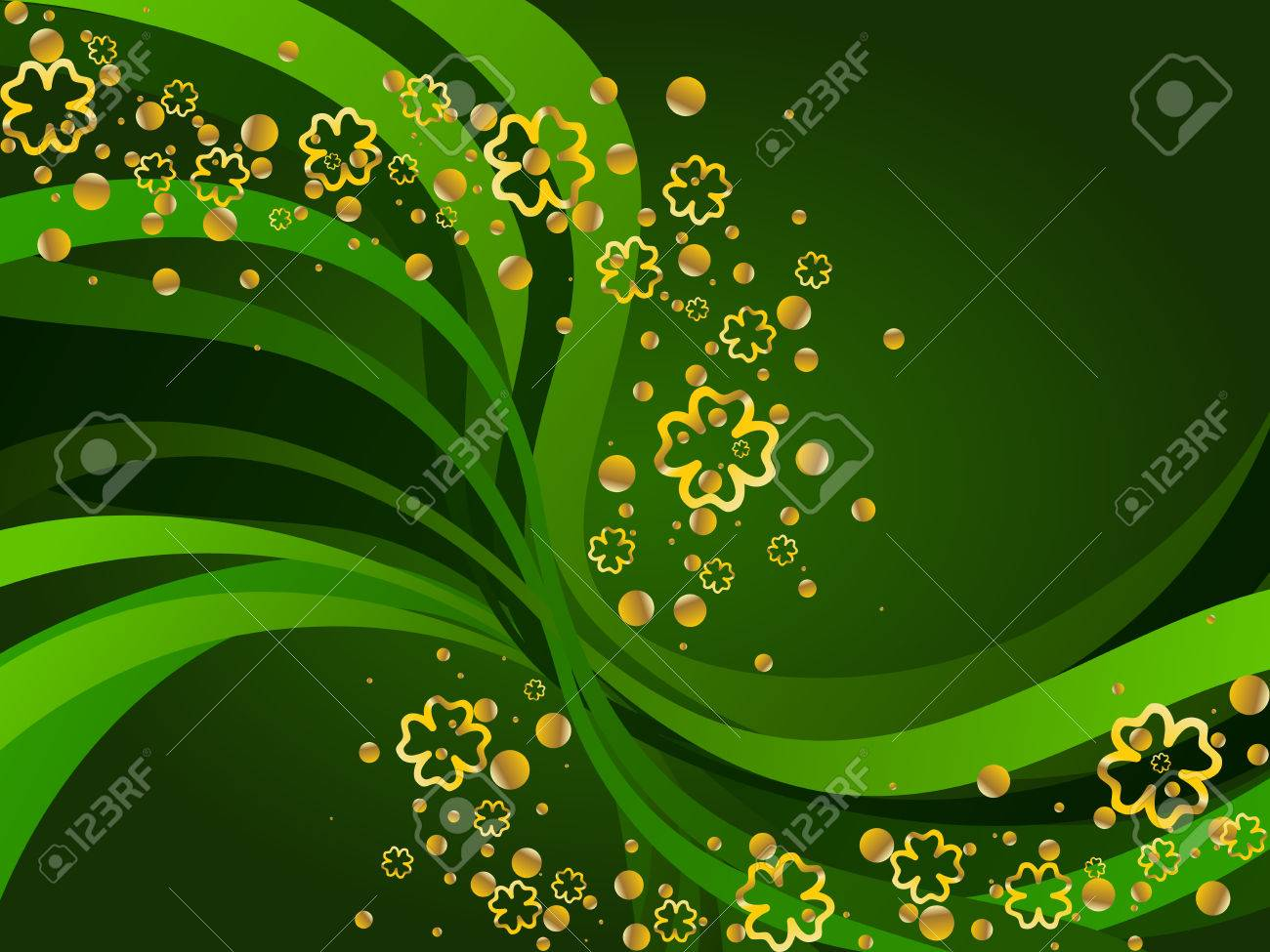 A St. Patrick's background. Graphics are grouped and in several layers for easy editing. The file can be scaled to any size. Stock Vector - 4257811
