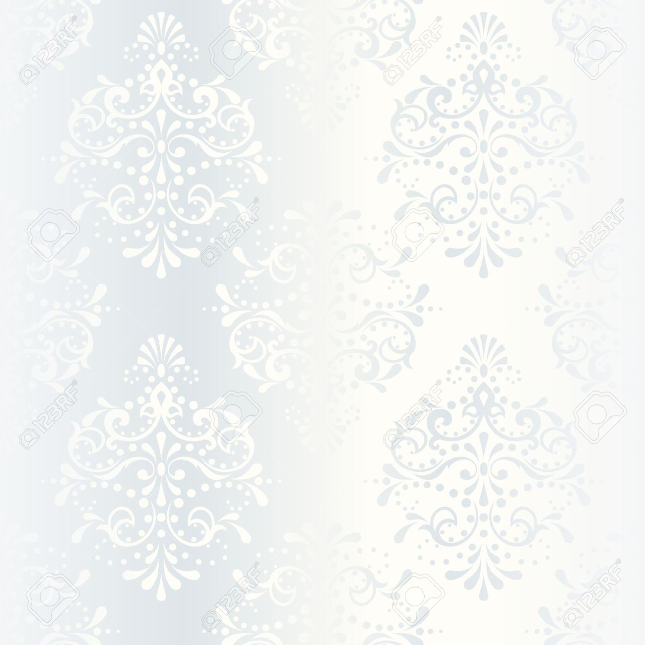 elegant white seamless pattern, prefect for wedding designs. The tiles can be combined seamlessly. Graphics are grouped and in several layers for easy editing. The file can be scaled to any size. Stock Vector - 5153660