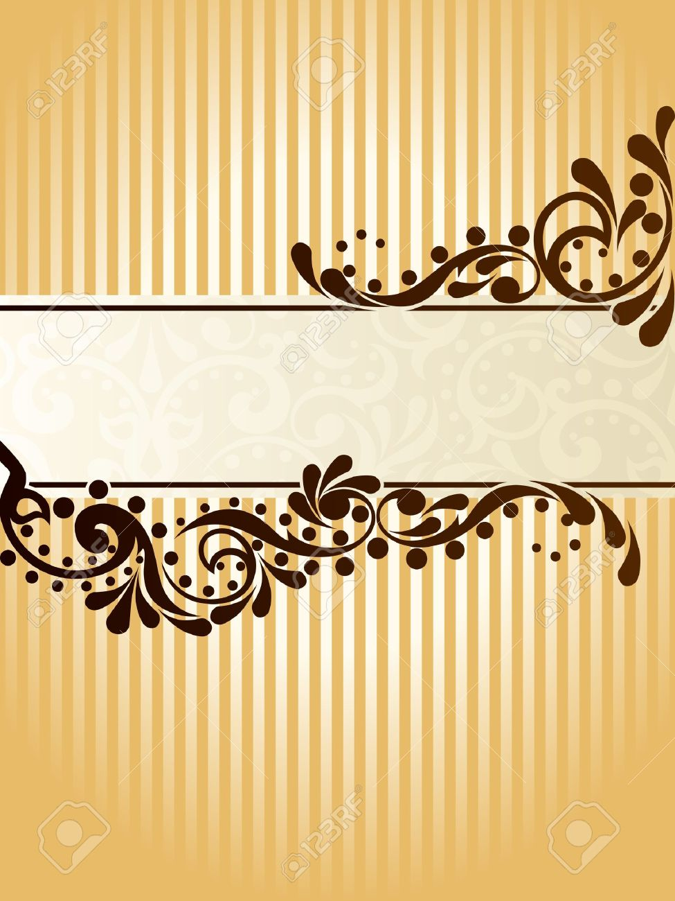 Elegant vertical banner design inspired by Victorian era designs. Graphics are grouped and in several layers for easy editing. The file can be scaled to any size. Stock Vector - 5602187